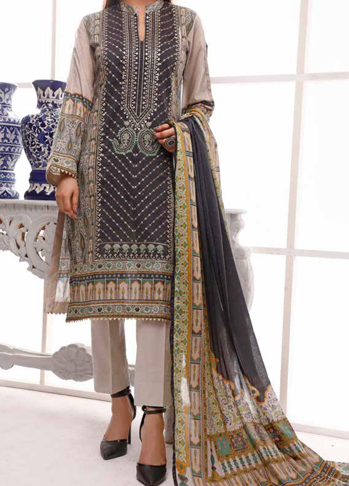 Shahkar by VS Textiles Embroidered Lawn Unstitched 3 Piece Suit VS20SH 20-10 - Spring / Summer Collection