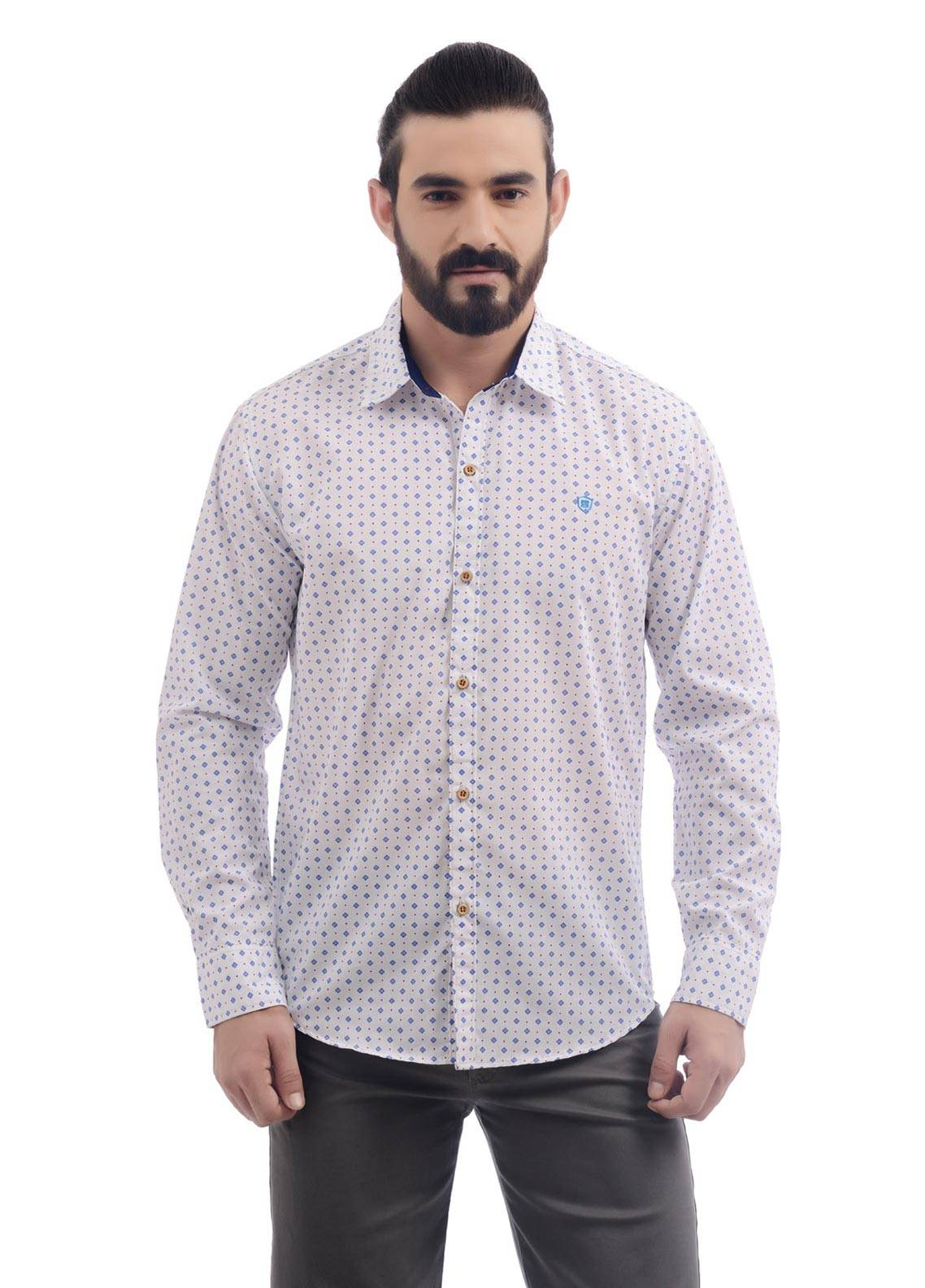 Shahzeb Saeed Cotton Casual Shirts for Men - White CSW-83