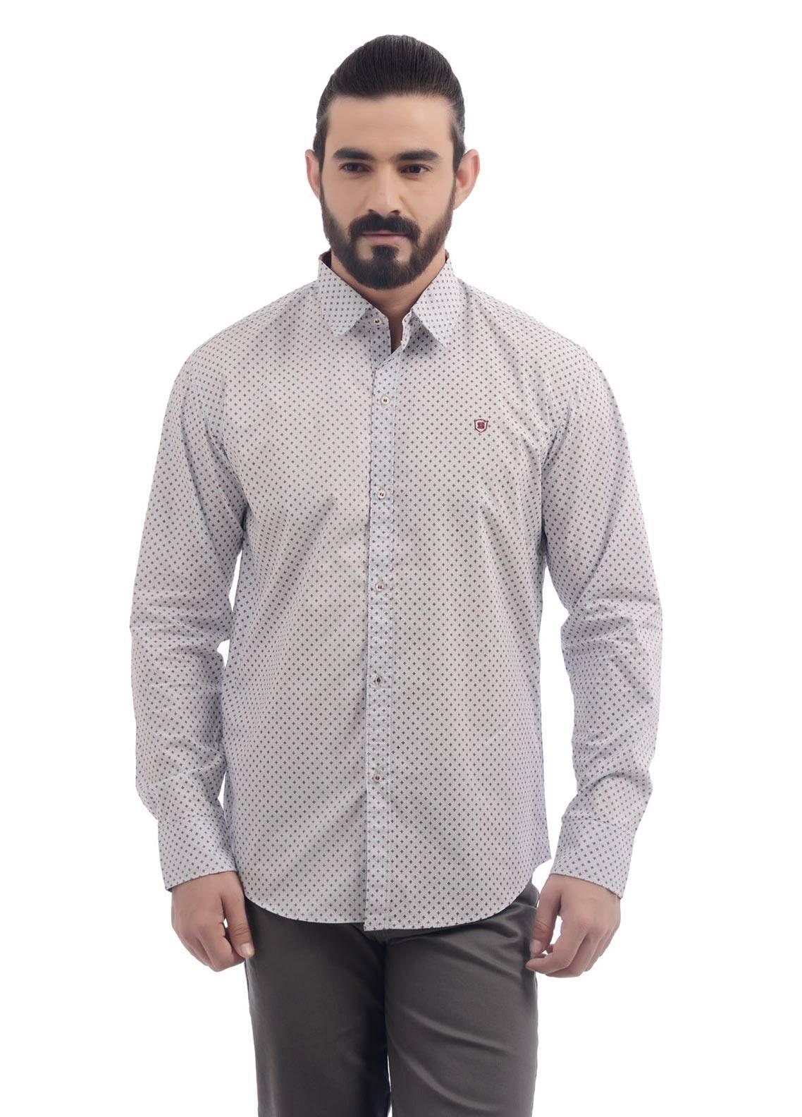 Shahzeb Saeed Cotton Casual Men Shirts - Grey CSW-90