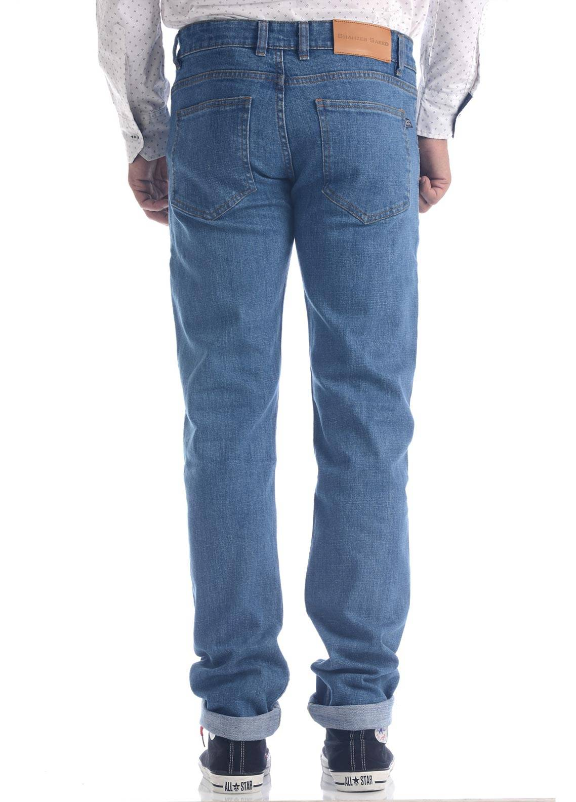 Shahzeb Saeed Denim Casual Jeans for Men - Blue DNM-90