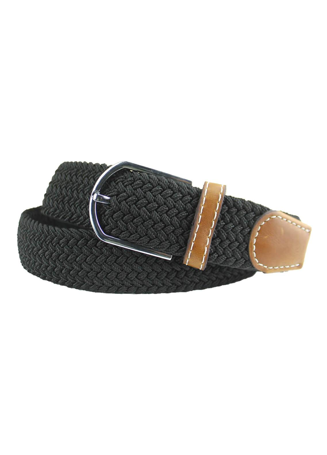 Shahzeb Saeed Textured Leather Men Belts BELT-079 Black - Casual Accessories