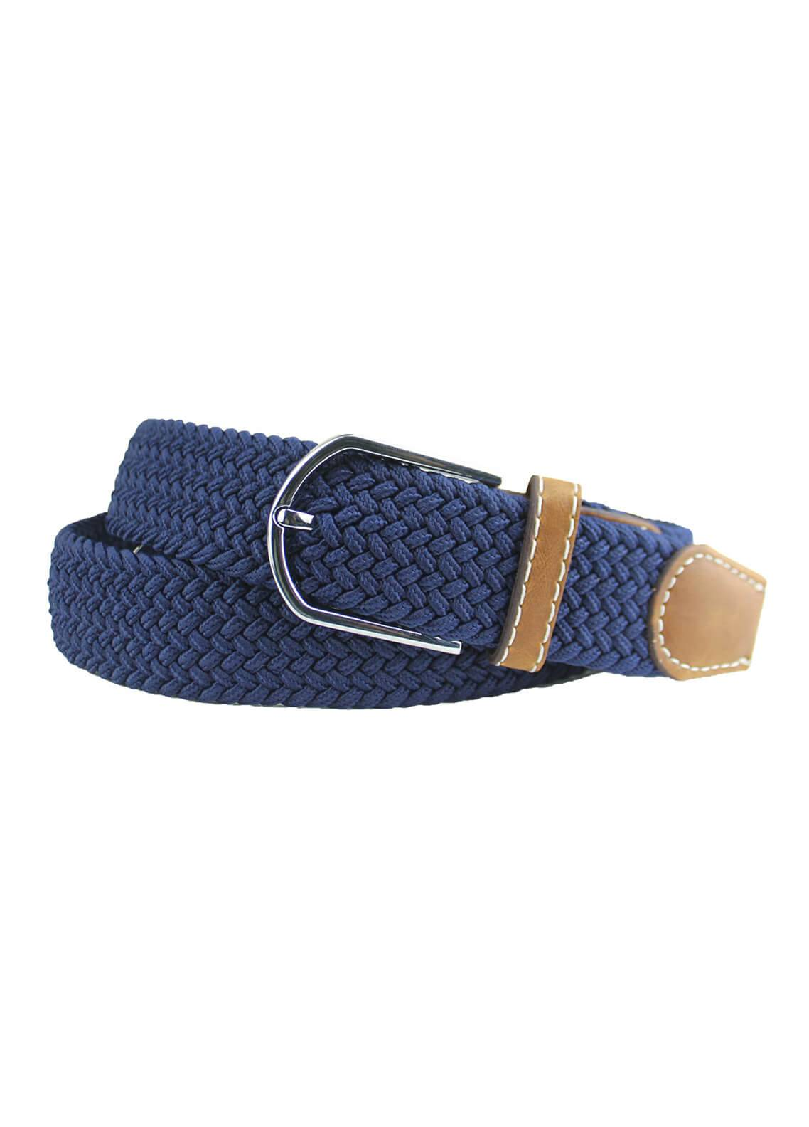 Shahzeb Saeed Textured Leather Men Belts BELT-080 Royal Blue - Casual Accessories