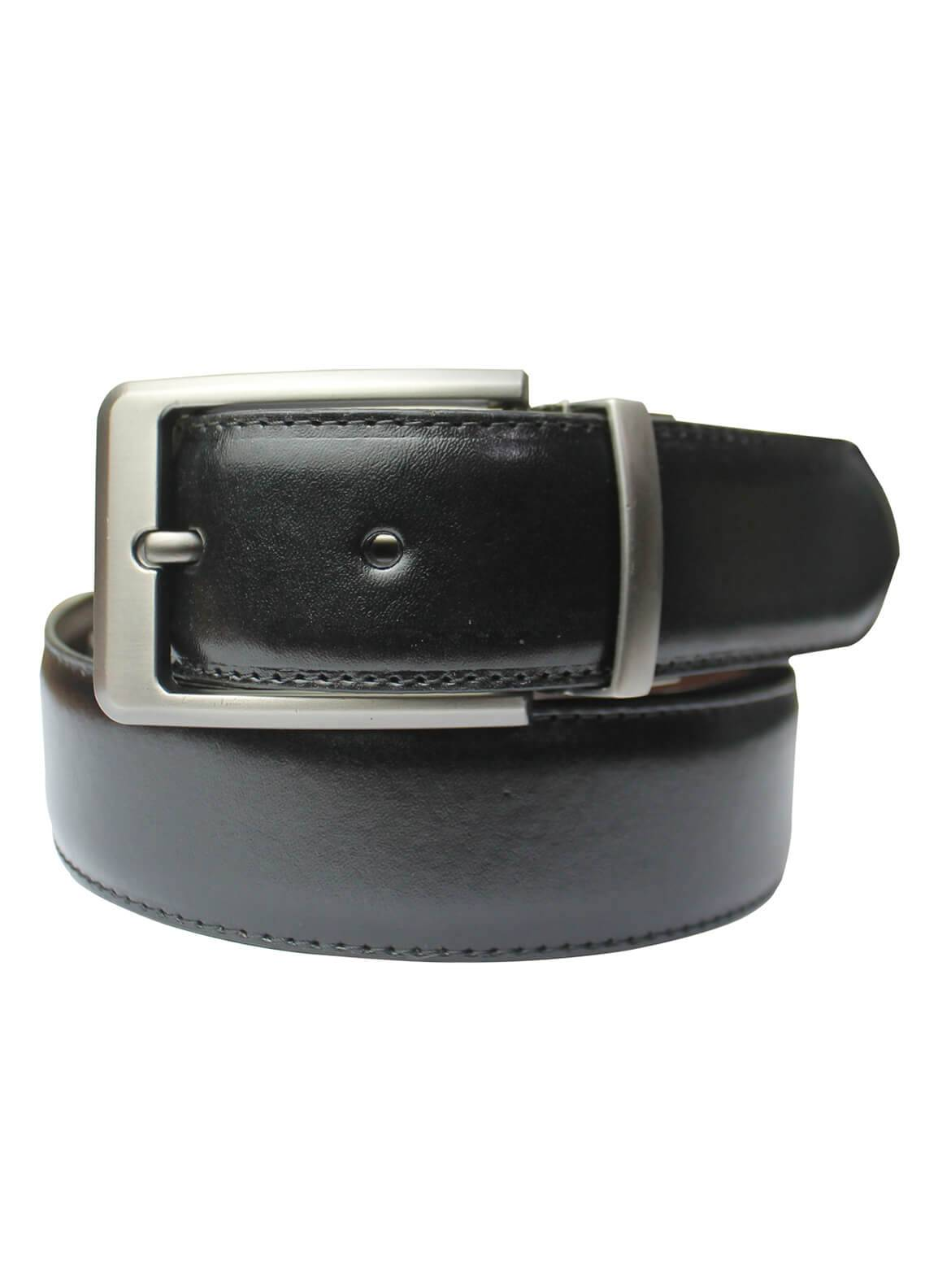 Shahzeb Saeed Textured Leather Men Belts BELT-152 Black - Casual Accessories