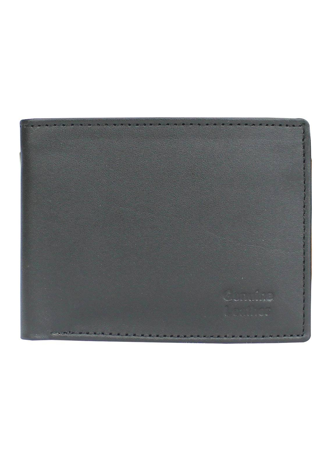 Shahzeb Saeed Plain Texture Leather  Wallet W-061 - Men's Accessories