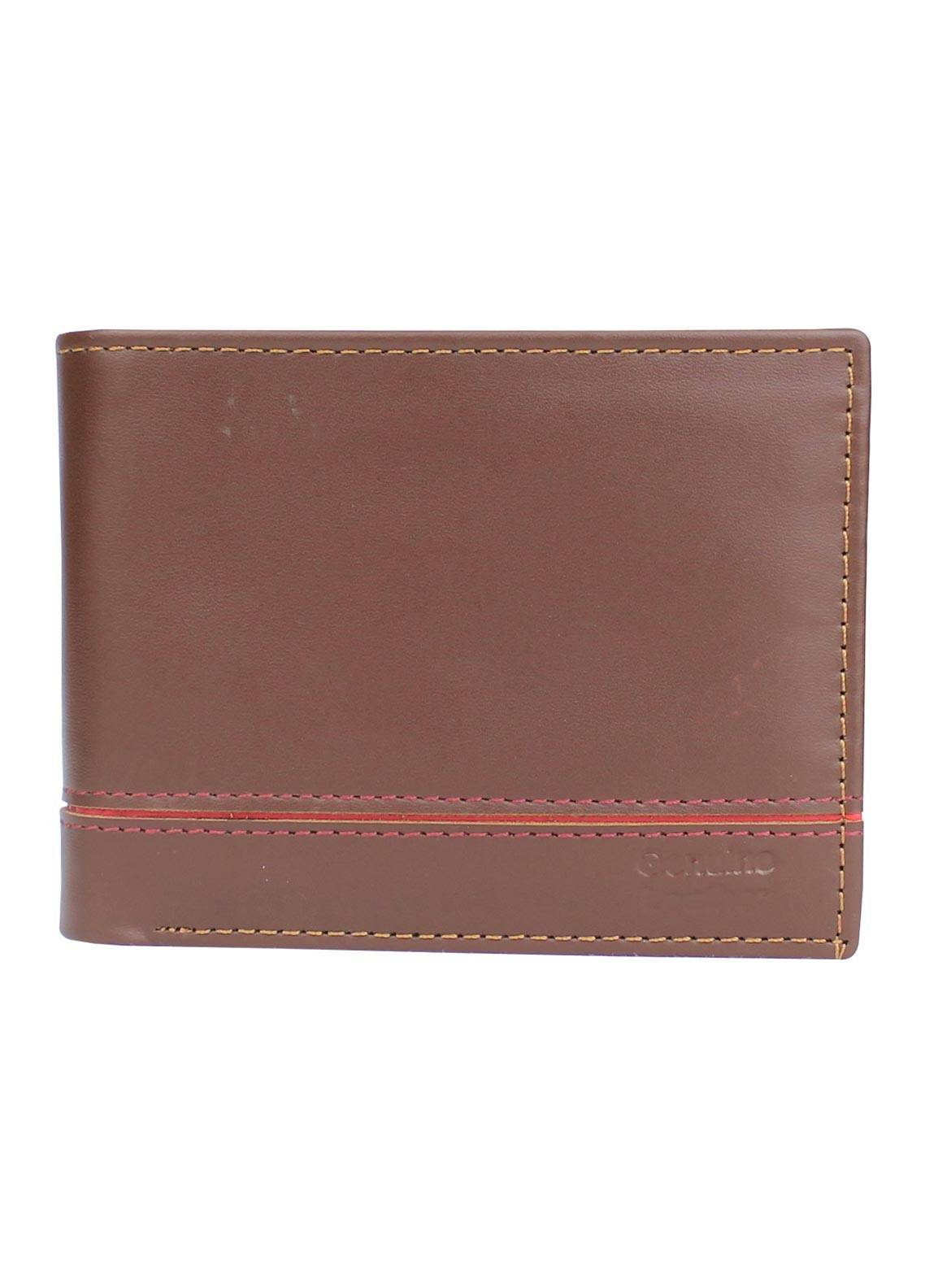 Shahzeb Saeed Plain Texture Leather  Wallet W-063 - Men's Accessories
