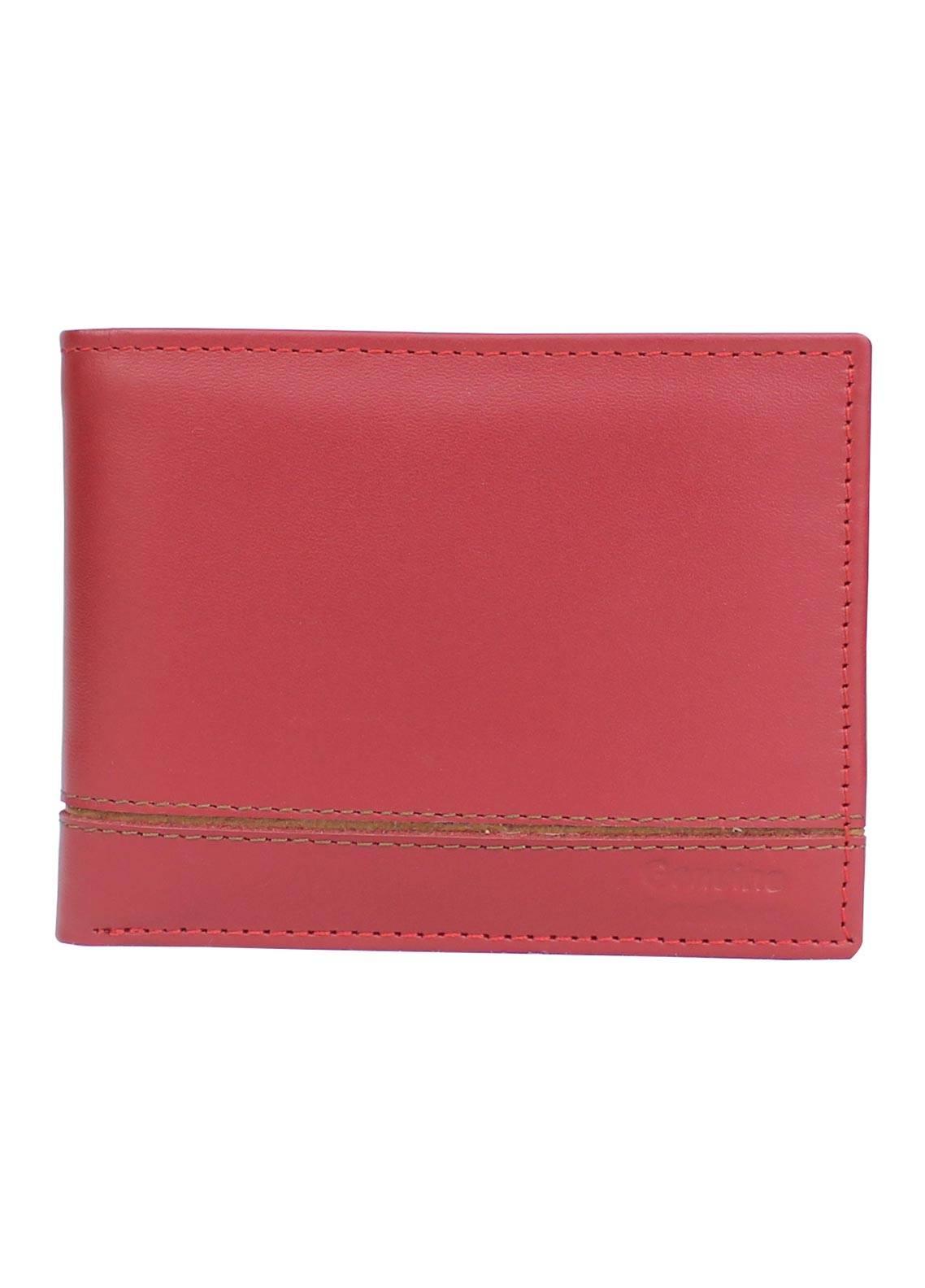 Shahzeb Saeed Plain Texture Leather  Wallet W-066 - Men's Accessories