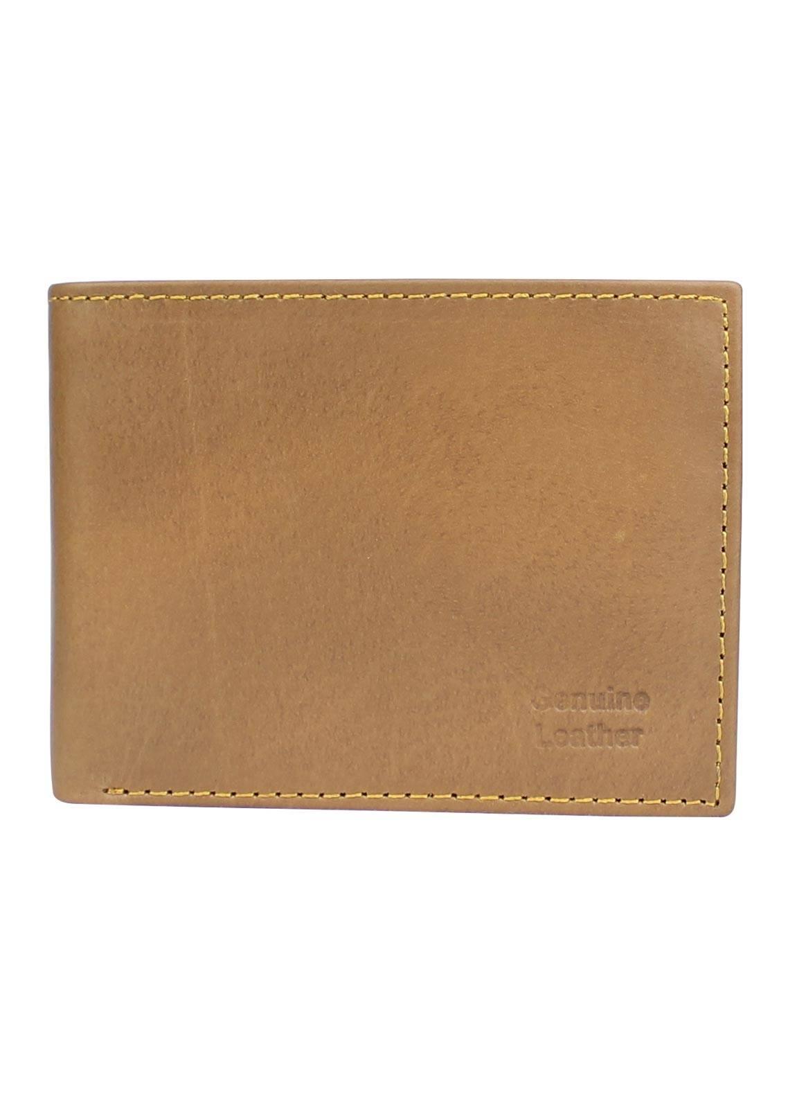 Shahzeb Saeed Plain Texture Leather  Wallet W-067 - Men's Accessories