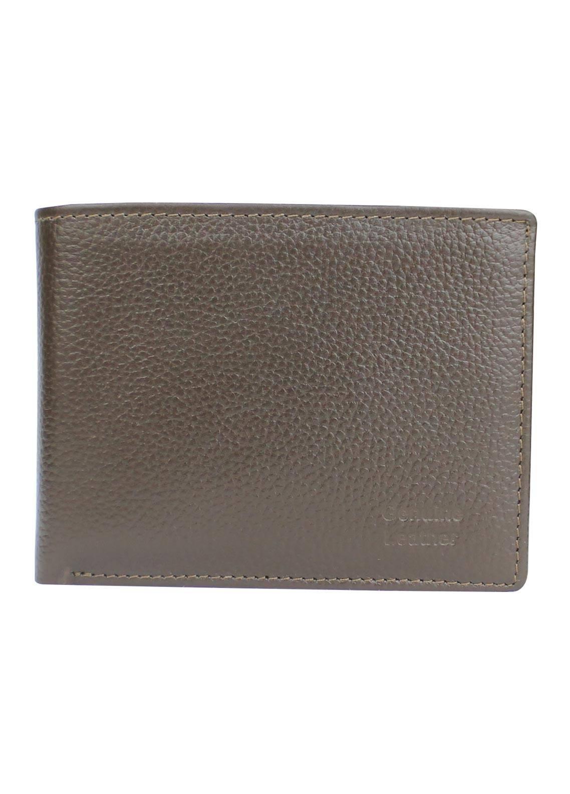 Shahzeb Saeed Plain Texture Leather  Wallet W-070 - Men's Accessories
