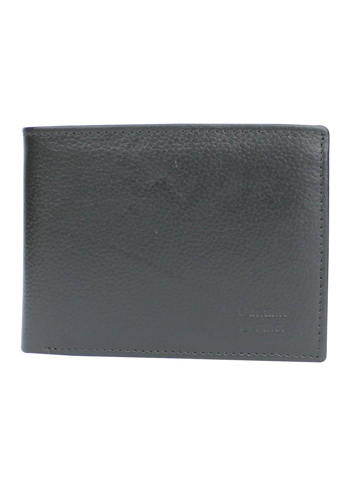 Shahzeb Saeed Plain Texture Leather  Wallet W-071 - Men's Accessories