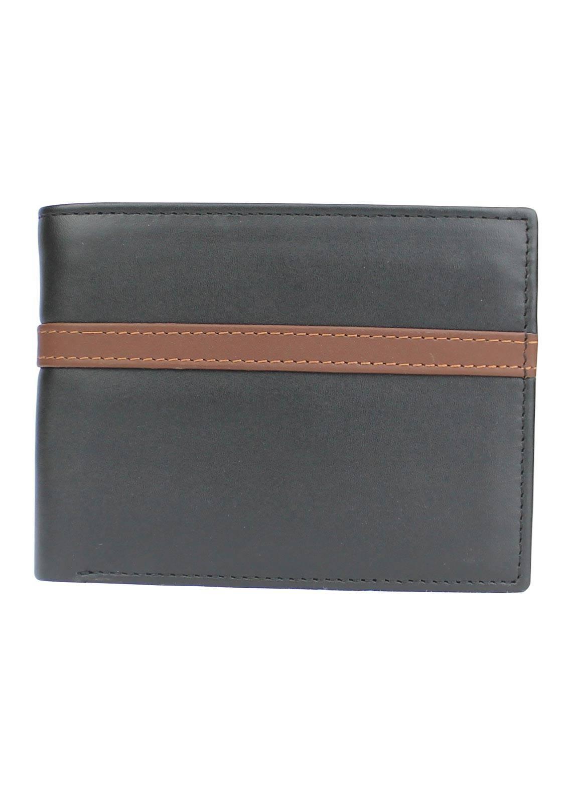 Shahzeb Saeed Plain Texture Leather  Wallet W-079 - Men's Accessories