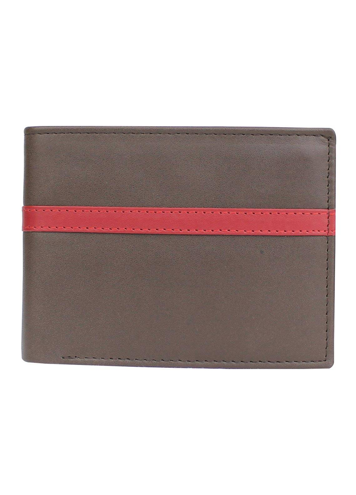 Shahzeb Saeed Plain Texture Leather  Wallet W-080 - Men's Accessories