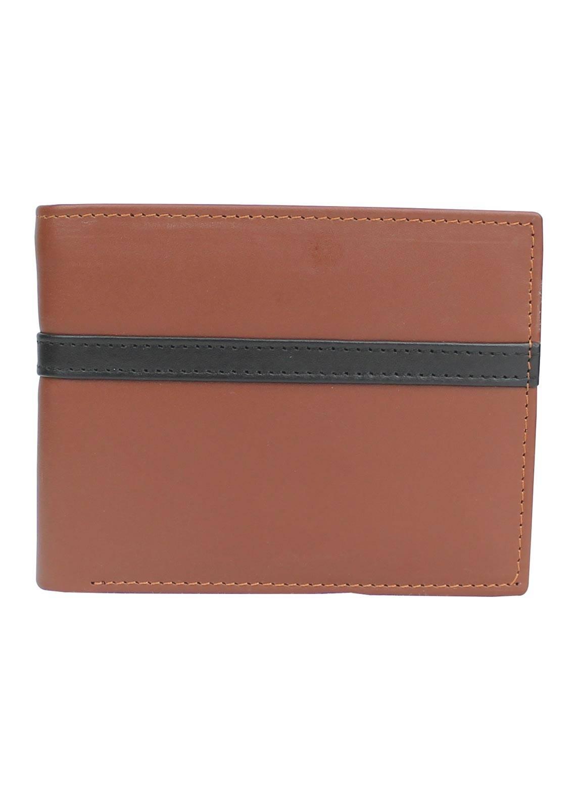 Shahzeb Saeed Plain Texture Leather  Wallet W-082 - Men's Accessories