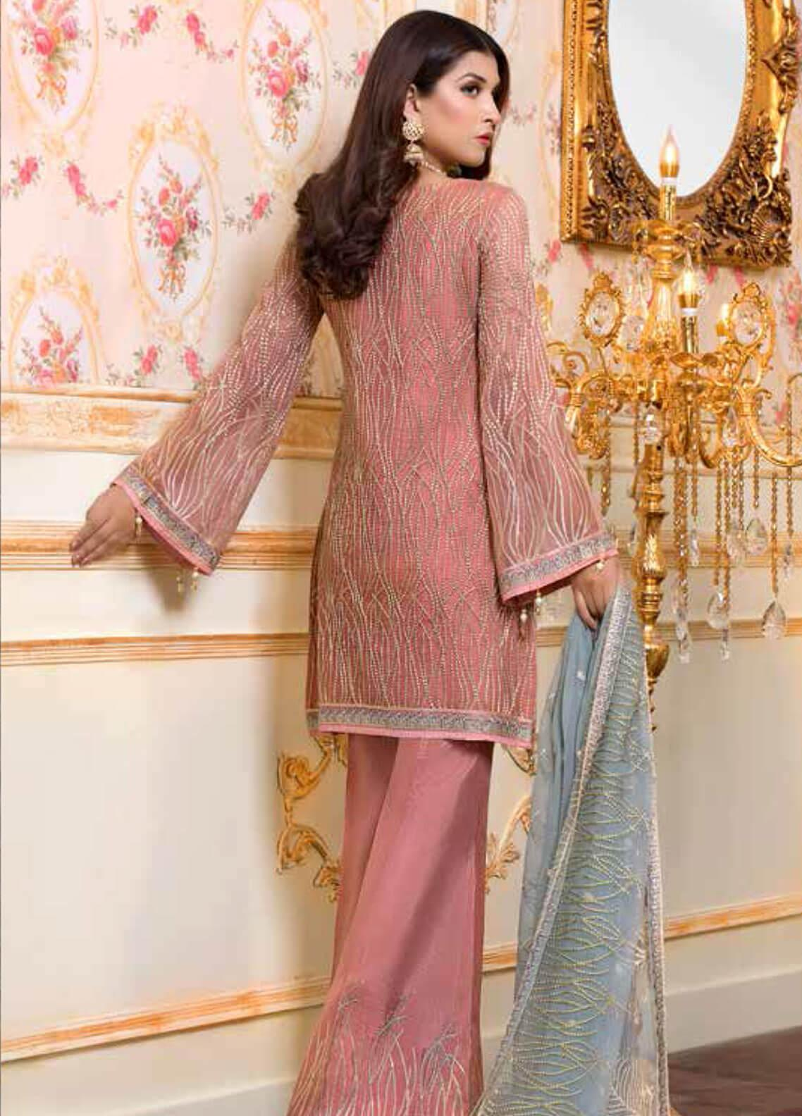 7e50c6c52e Shamrock by Maryum N Maria Embroidered Chiffon Unstitched 3 Piece Suit  SMM19C 702 - Premium Collection