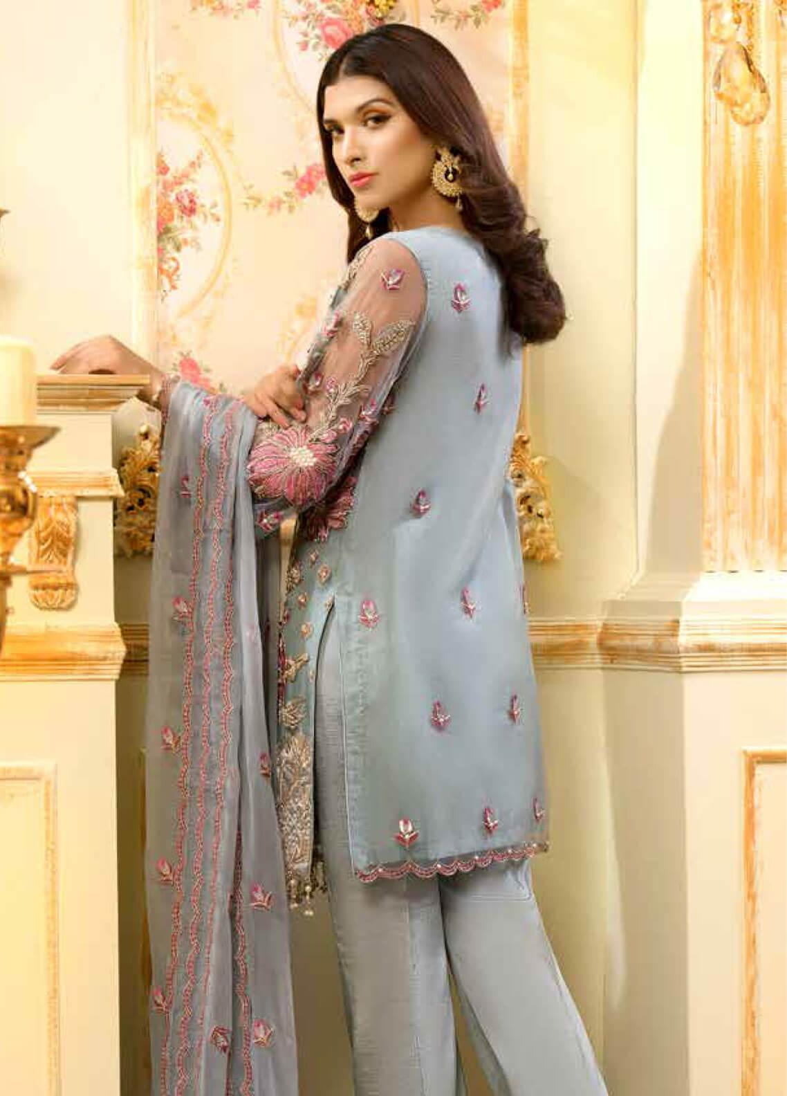 5ad43f012e ... Shamrock by Maryum N Maria Embroidered Zari Net Unstitched 3 Piece Suit  SMM19C 704 - Premium Collection. < Previous Next > · hover