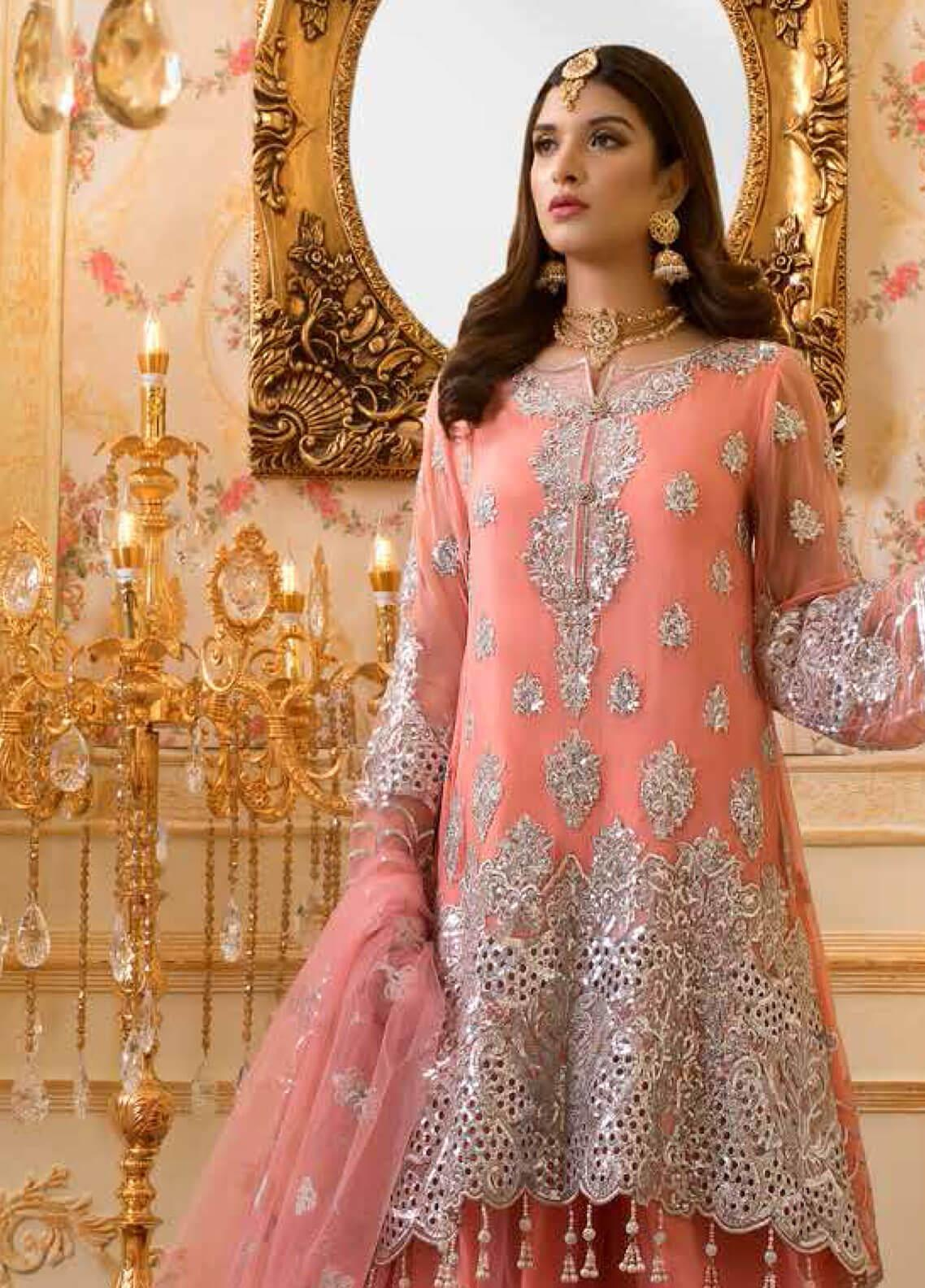 Shamrock by Maryum N Maria Embroidered Chiffon Unstitched 3 Piece Suit SMM19C 705 - Premium Collection