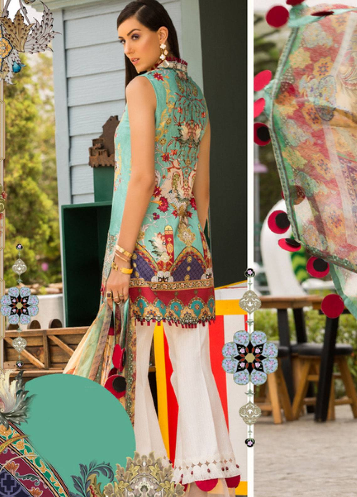 4cf7e97f05 Shanaya by Saadia Asad Embroidered Lawn Unstitched 3 Piece Suit SSA19L 01 -  Spring / Summer Collection