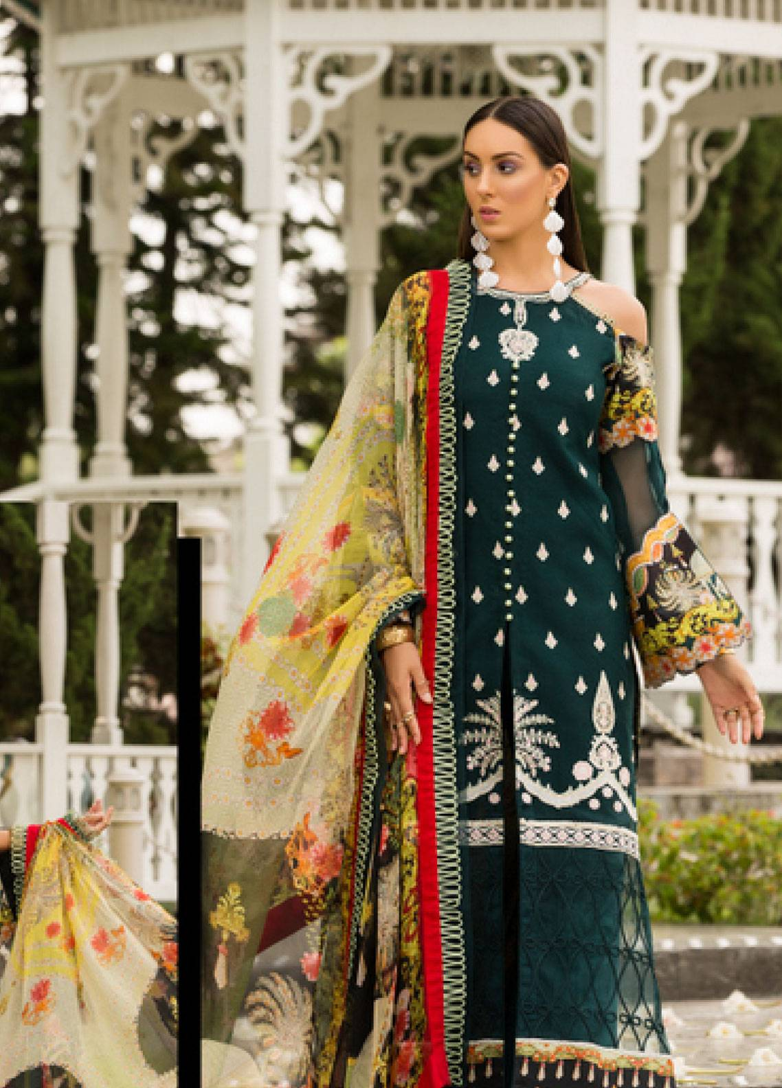 Shanaya by Saadia Asad Embroidered Lawn Unstitched 3 Piece Suit SSA19L 08 - Spring / Summer Collection