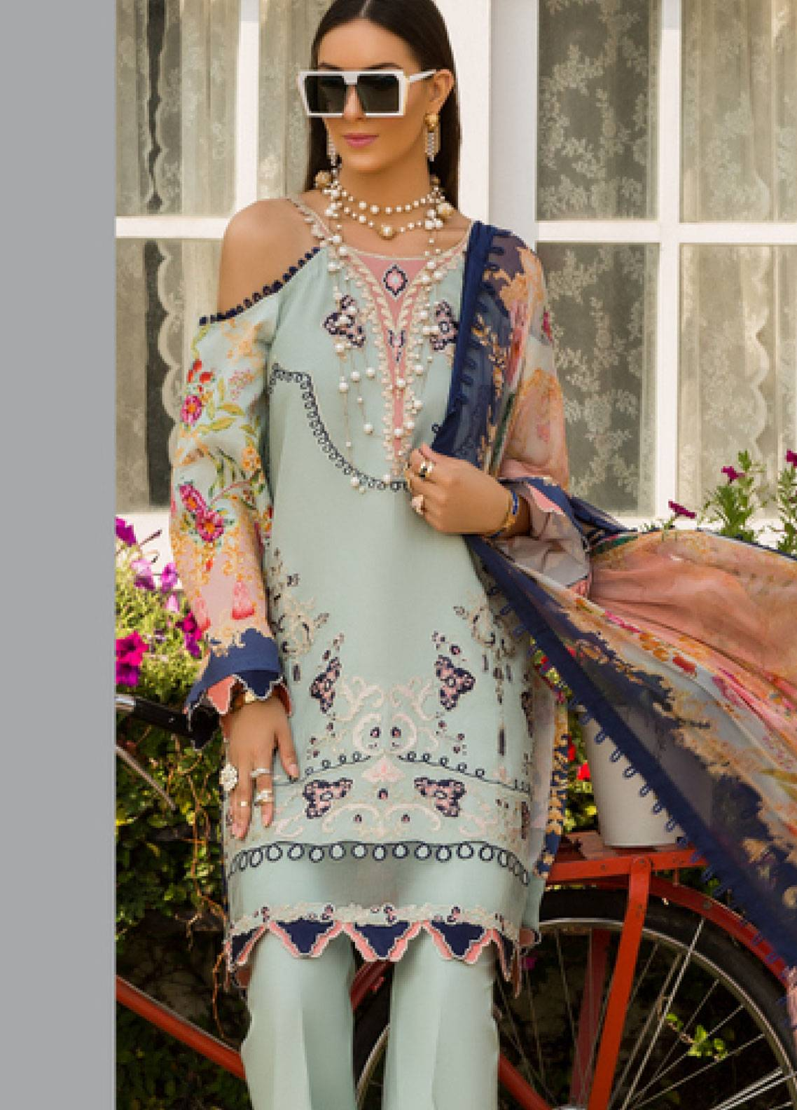 Shanaya by Saadia Asad Embroidered Lawn Unstitched 3 Piece Suit SSA19L 09 - Spring / Summer Collection