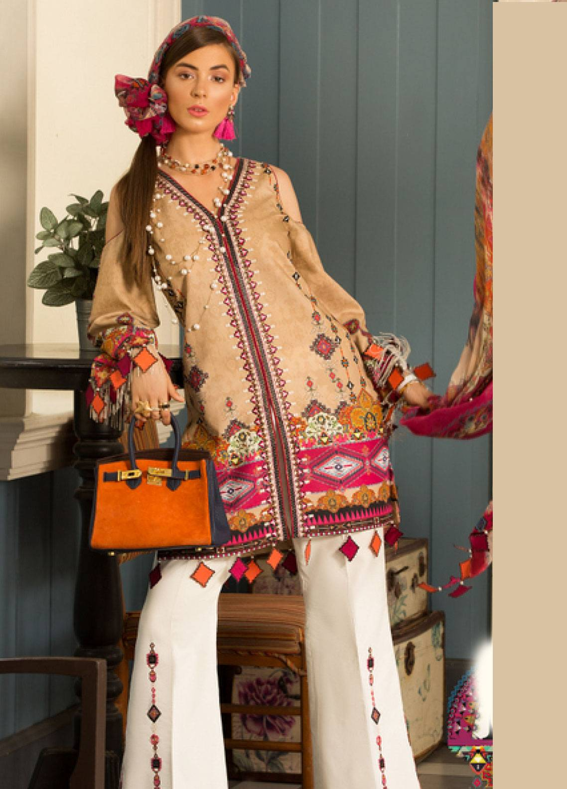 Shanaya by Saadia Asad Embroidered Lawn Unstitched 3 Piece Suit SSA19L 11 - Spring / Summer Collection