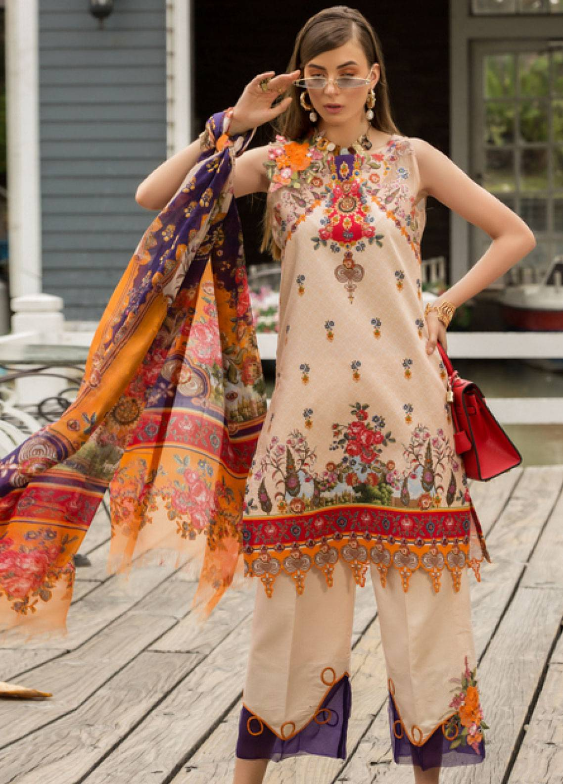 Shanaya by Saadia Asad Embroidered Lawn Unstitched 3 Piece Suit SSA19L 13 - Spring / Summer Collection