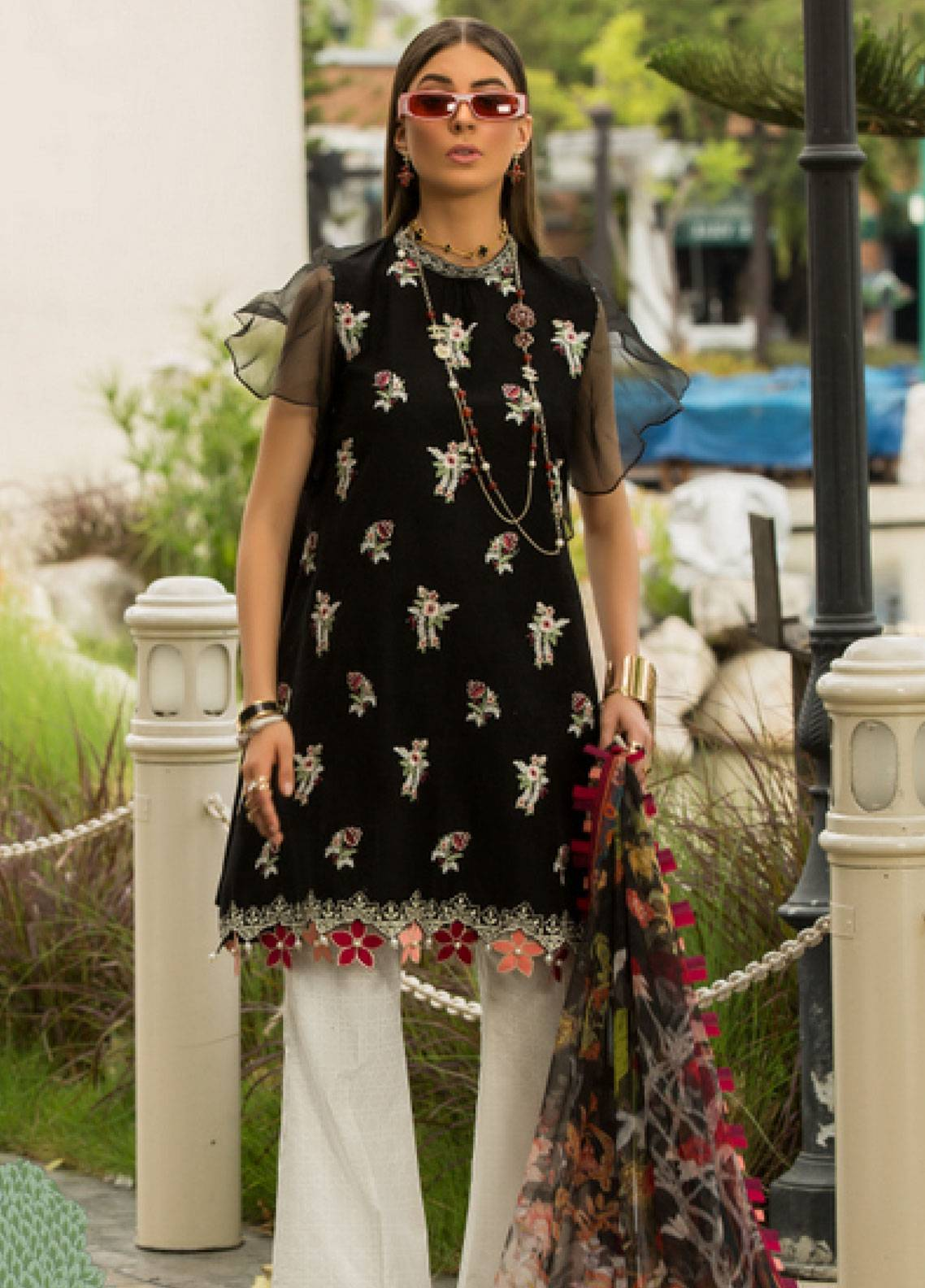 Shanaya by Saadia Asad Embroidered Lawn Unstitched 3 Piece Suit SSA19L 15 - Spring / Summer Collection