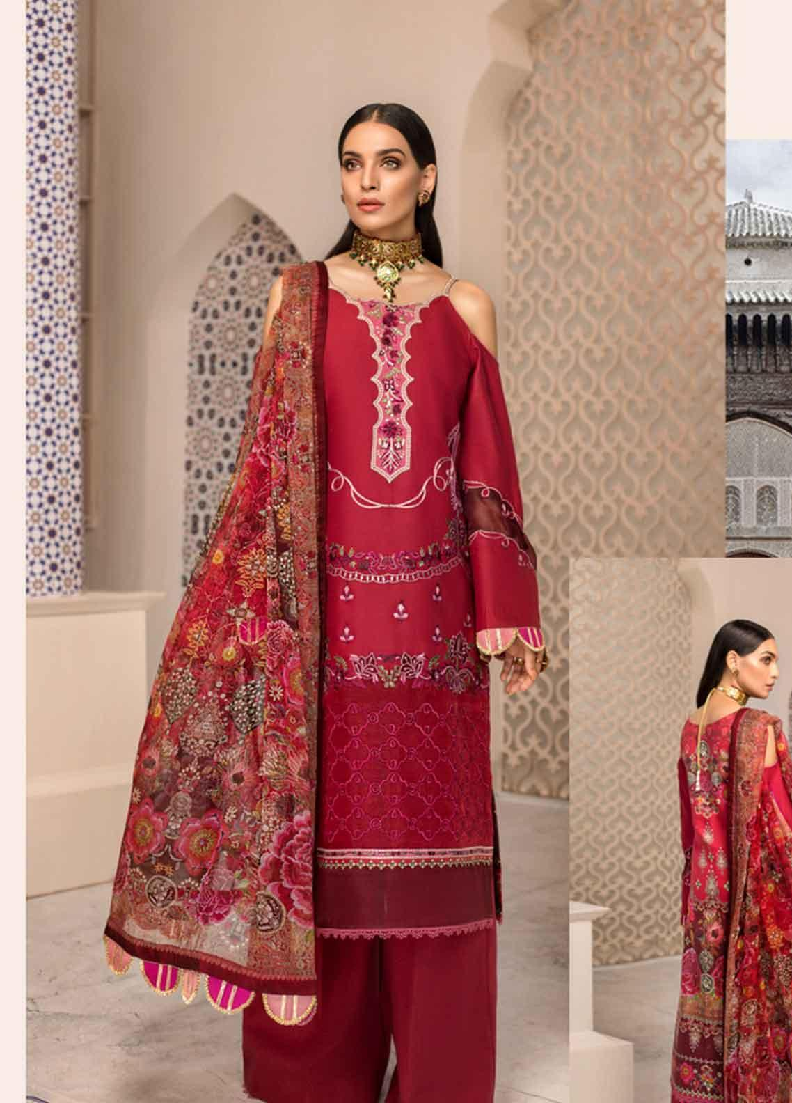 Shanaya by Saadia Asad Embroidered Lawn Unstitched 3 Piece Suit SSA19F 02 - Festive Collection
