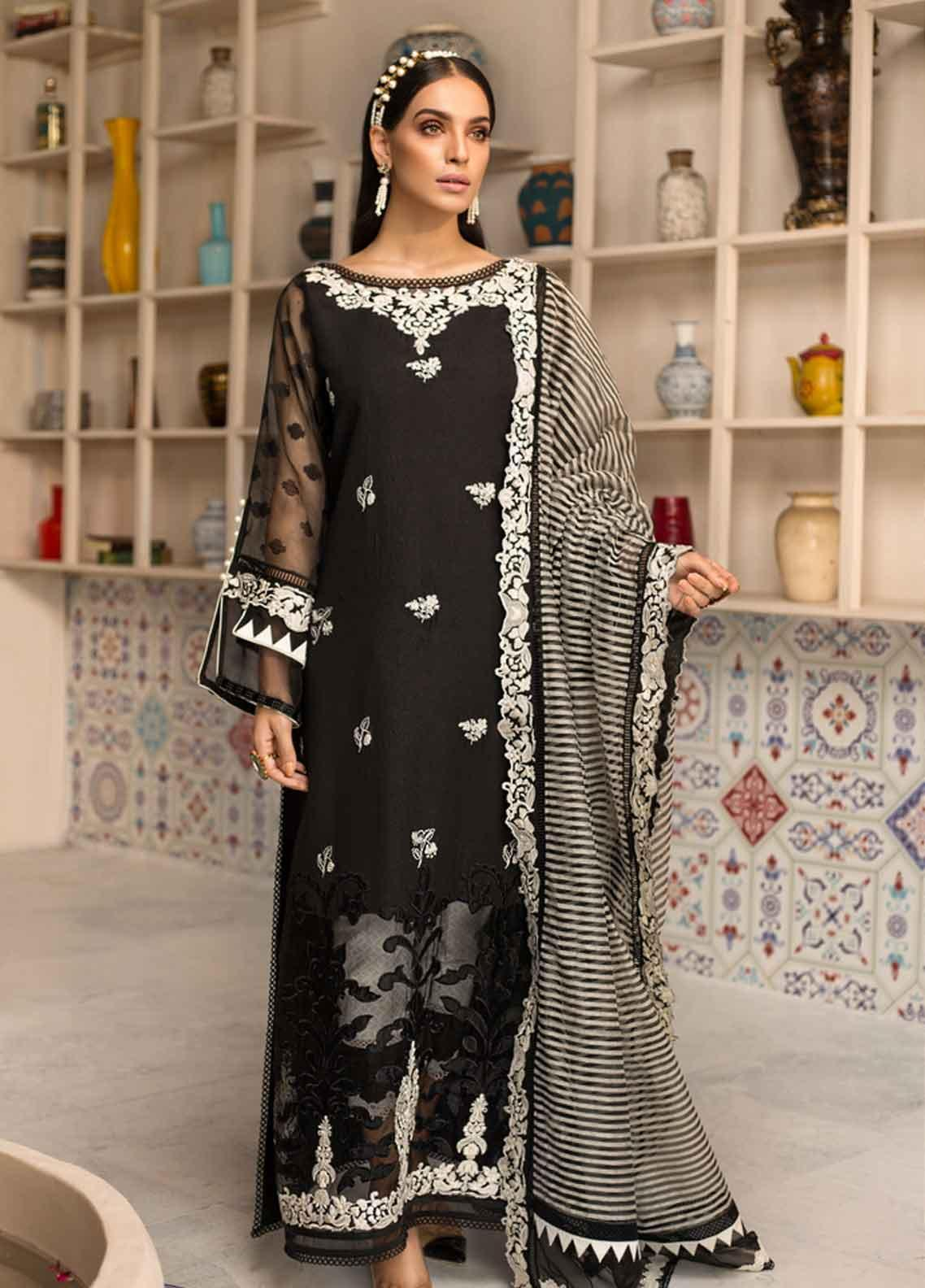 Shanaya by Saadia Asad Embroidered Cotton Silk Unstitched 3 Piece Suit SSA19F 04 - Festive Collection