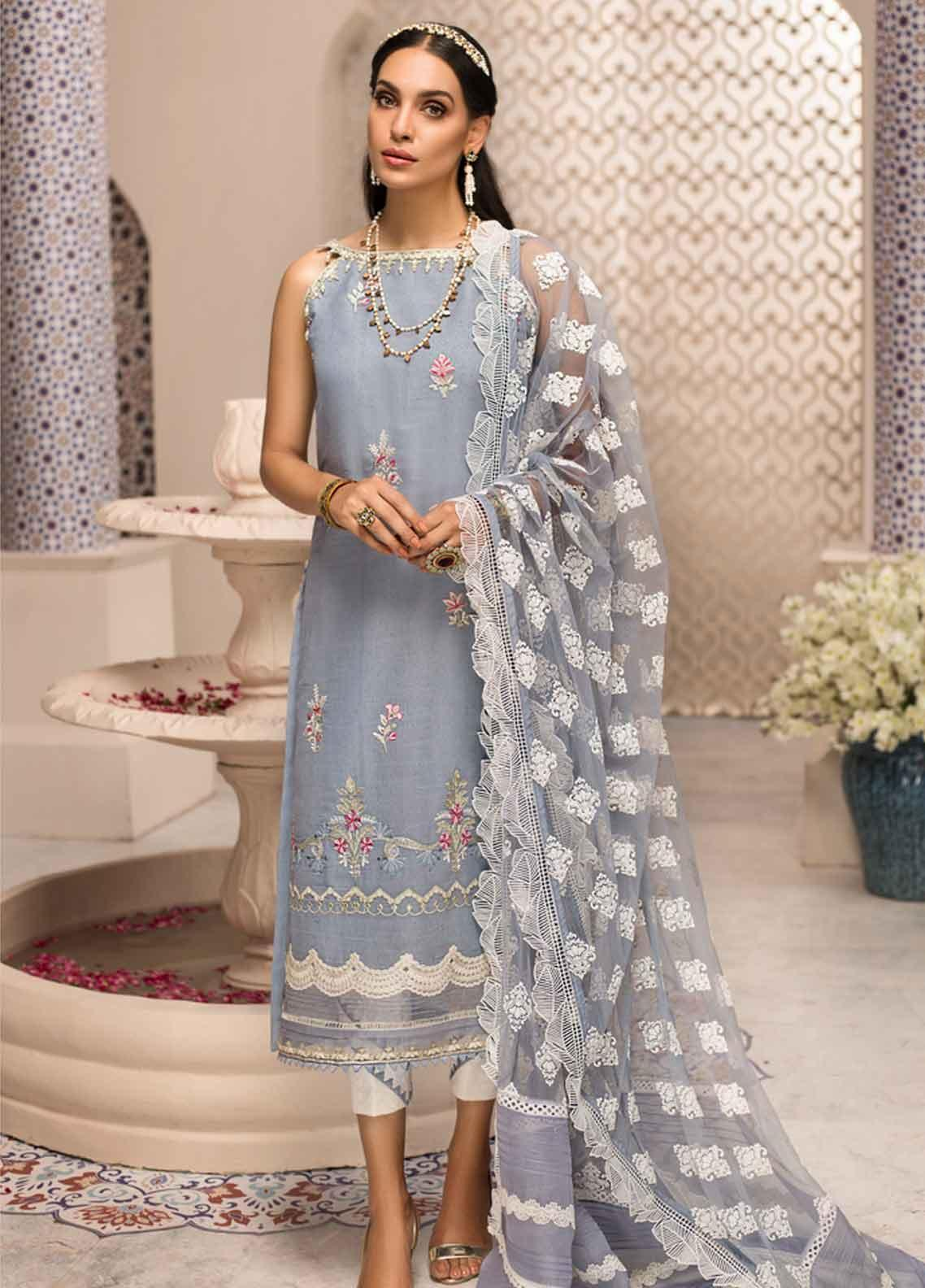Shanaya by Saadia Asad Embroidered Karandi Unstitched 3 Piece Suit SSA19F 06 - Festive Collection