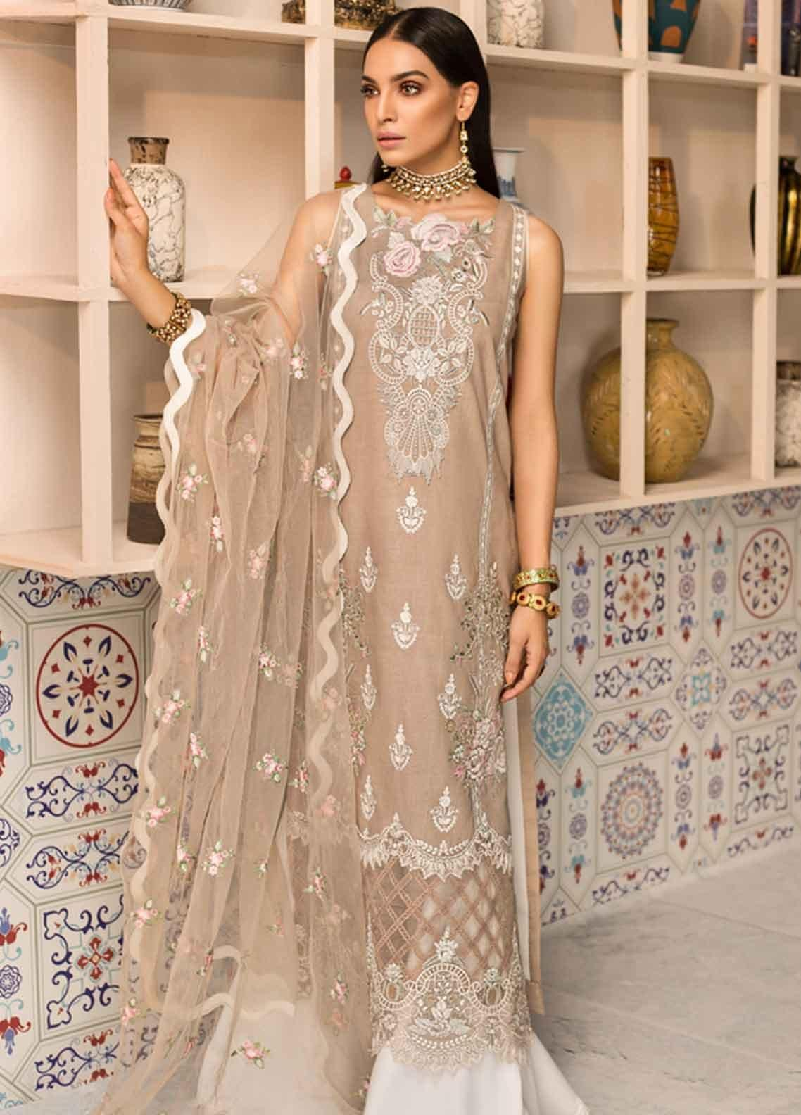 Shanaya by Saadia Asad Embroidered Lawn Unstitched 3 Piece Suit SSA19F 08 - Festive Collection