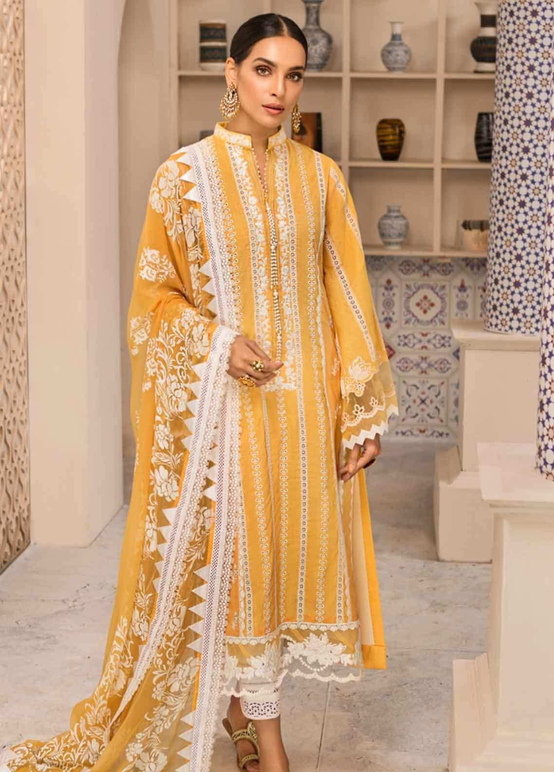Shanaya by Saadia Asad Embroidered Lawn Unstitched 3 Piece Suit SSA19F 09 - Festive Collection