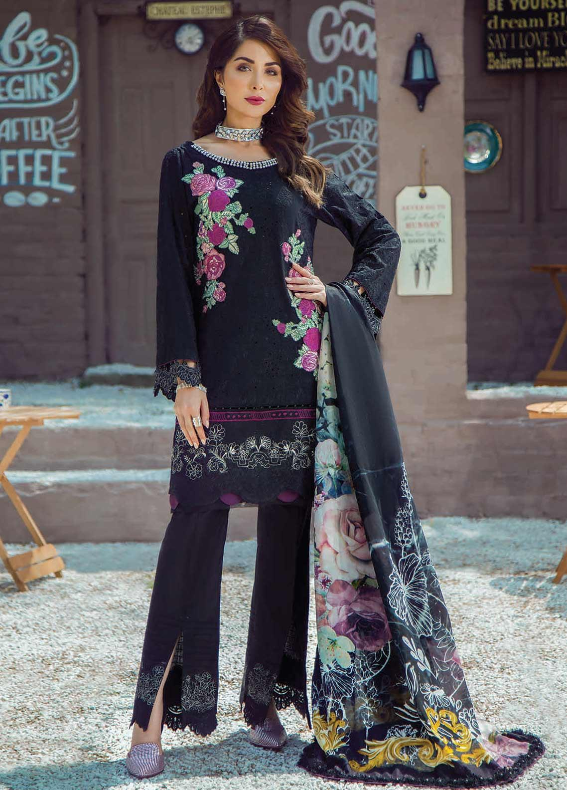Shazia Kiyani by Elaf Embroidered Lawn Unstitched 3 Piece Suit SZK19F RUE ADALENE - Festive Collection