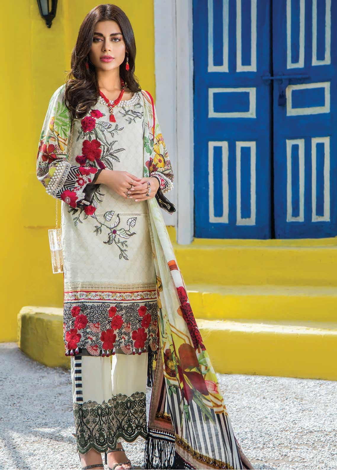 Shazia Kiyani by Elaf Embroidered Lawn Unstitched 3 Piece Suit SZK19F RUE STELLA - Festive Collection