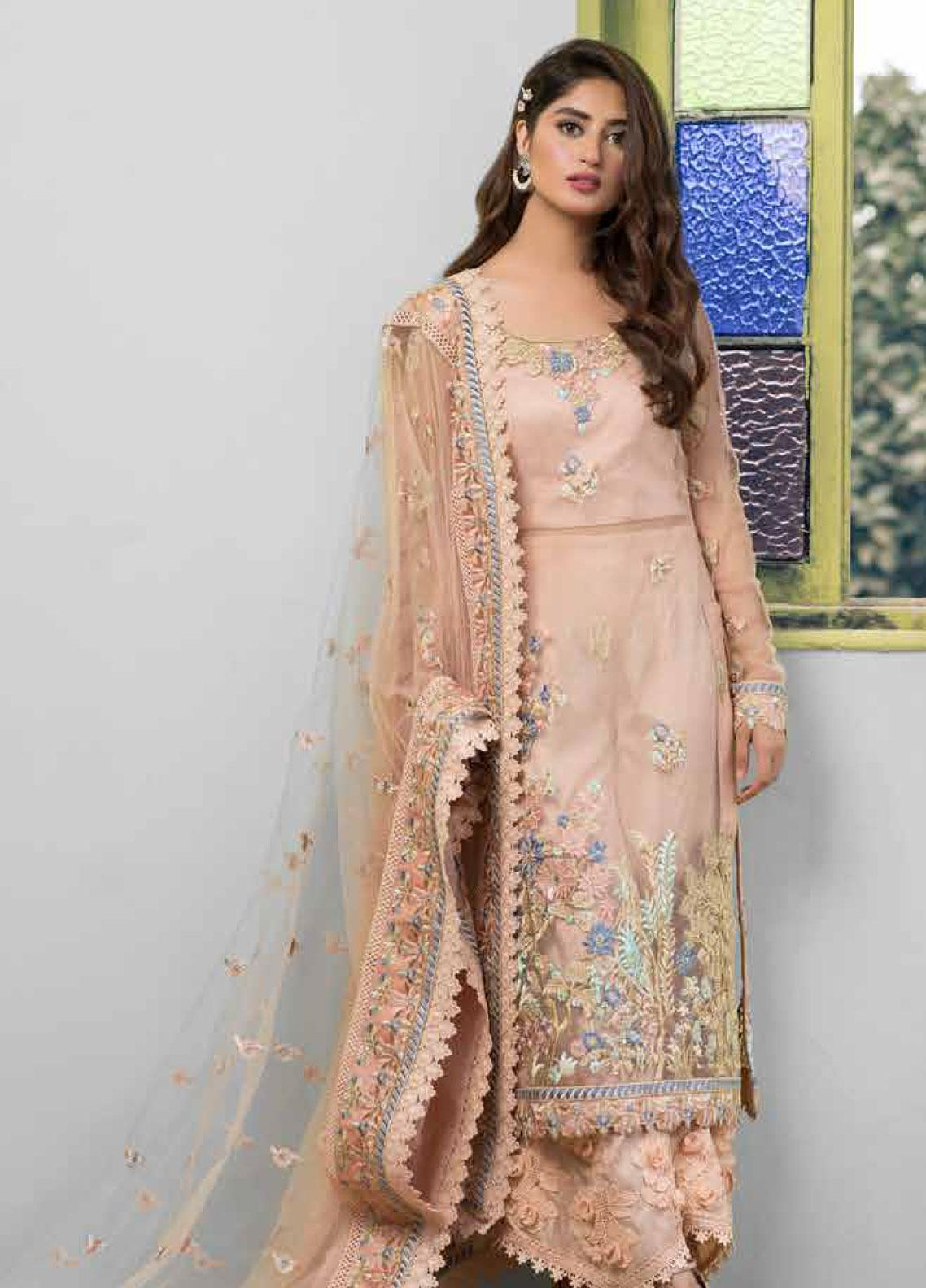 Sheeba Kapadia Embroidered Zari Net Unstitched 3 Piece Suit SHK19F ALBIZIA - Formal Collection
