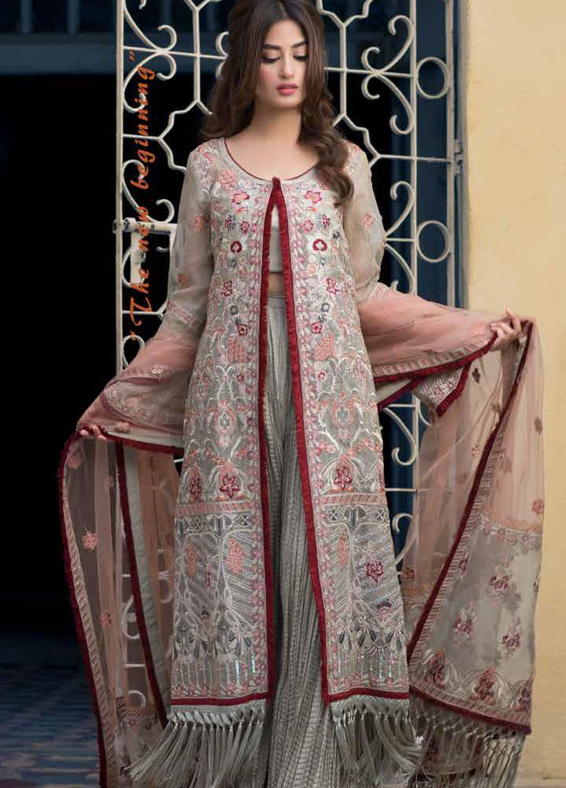 Sheeba Kapadia Embroidered Cotton Net Unstitched 3 Piece Suit SHK19F AMARYLLIS - Formal Collection