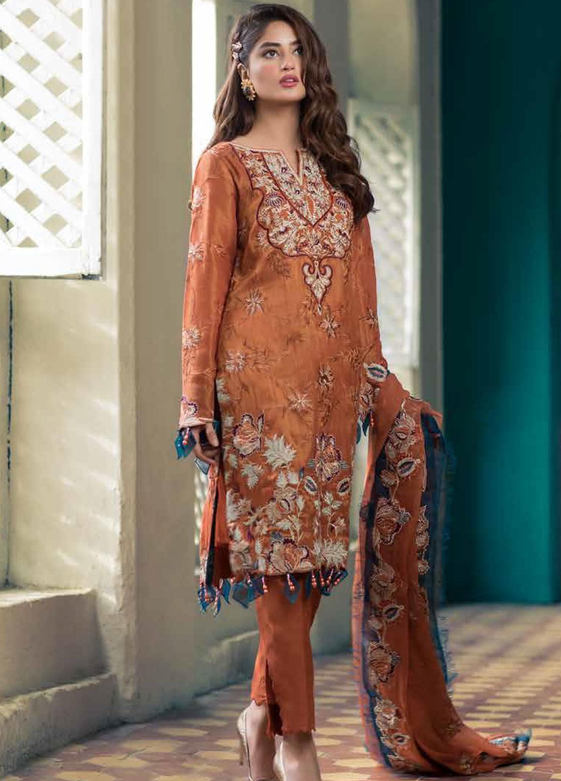 Sheeba Kapadia Embroidered Missouri Unstitched 3 Piece Suit SHK19F EBELE - Formal Collection