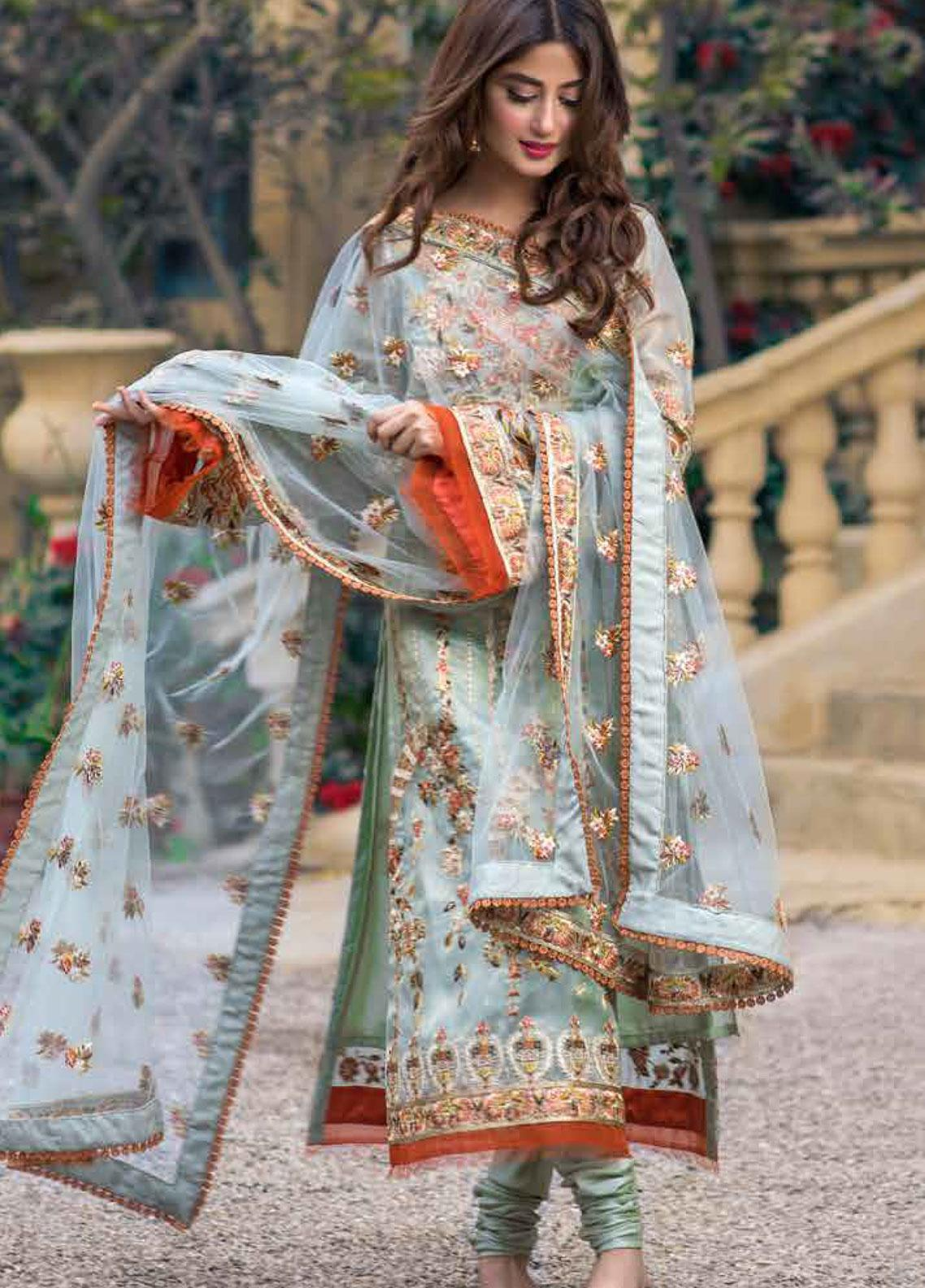 Sheeba Kapadia Embroidered Missouri Unstitched 3 Piece Suit SHK19F RADIA - Formal Collection