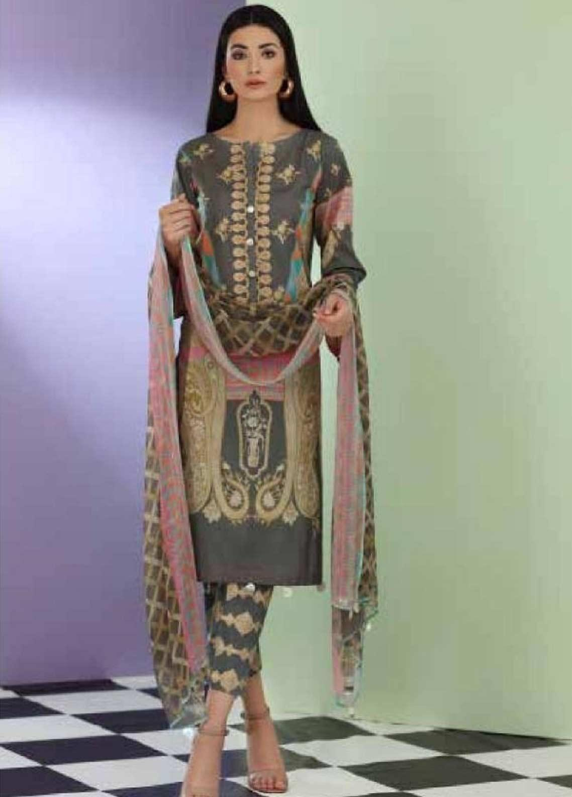Sheen by Charizma Embroidered Lawn Unstitched 3 Piece Suit SHN19-L3 23 - Mid Summer Collection