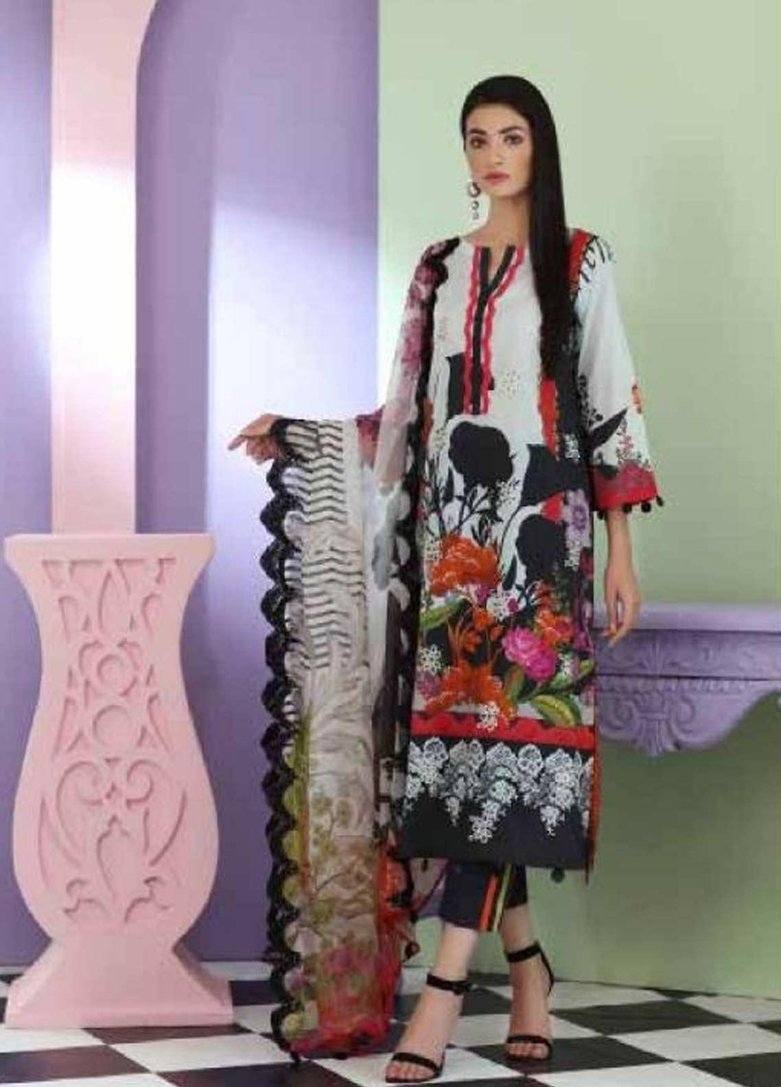 Sheen by Charizma Embroidered Lawn Unstitched 3 Piece Suit SHN19-L3 24 - Mid Summer Collection