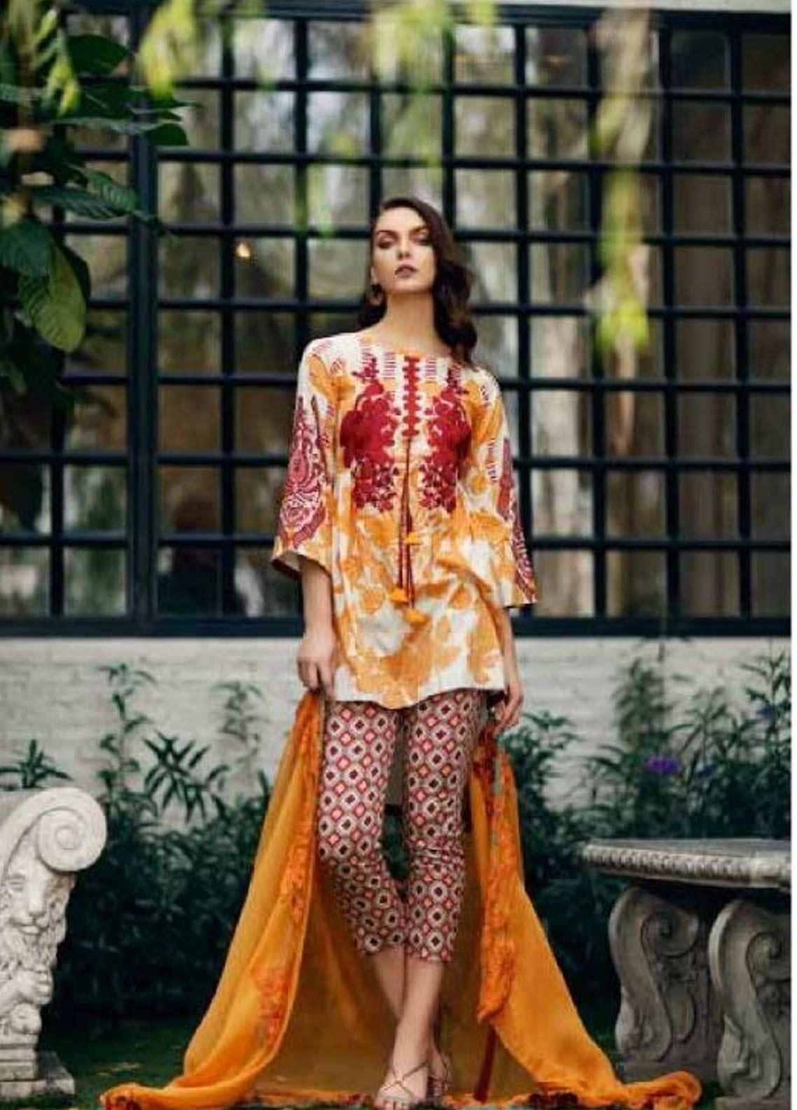 Sheen by Charizma Embroidered Lawn Unstitched 3 Piece Suit SHN19-L3 26 - Mid Summer Collection