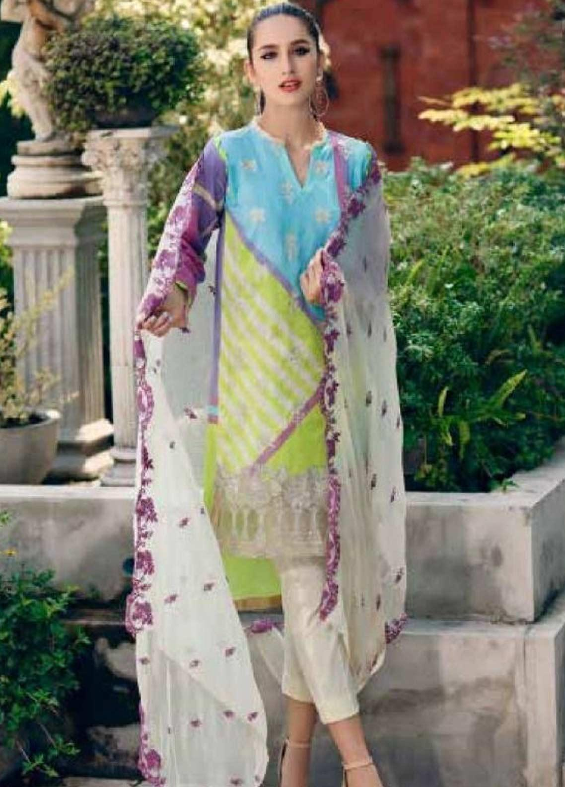 Sheen by Charizma Embroidered Lawn Unstitched 3 Piece Suit SHN19-L3 30 - Mid Summer Collection