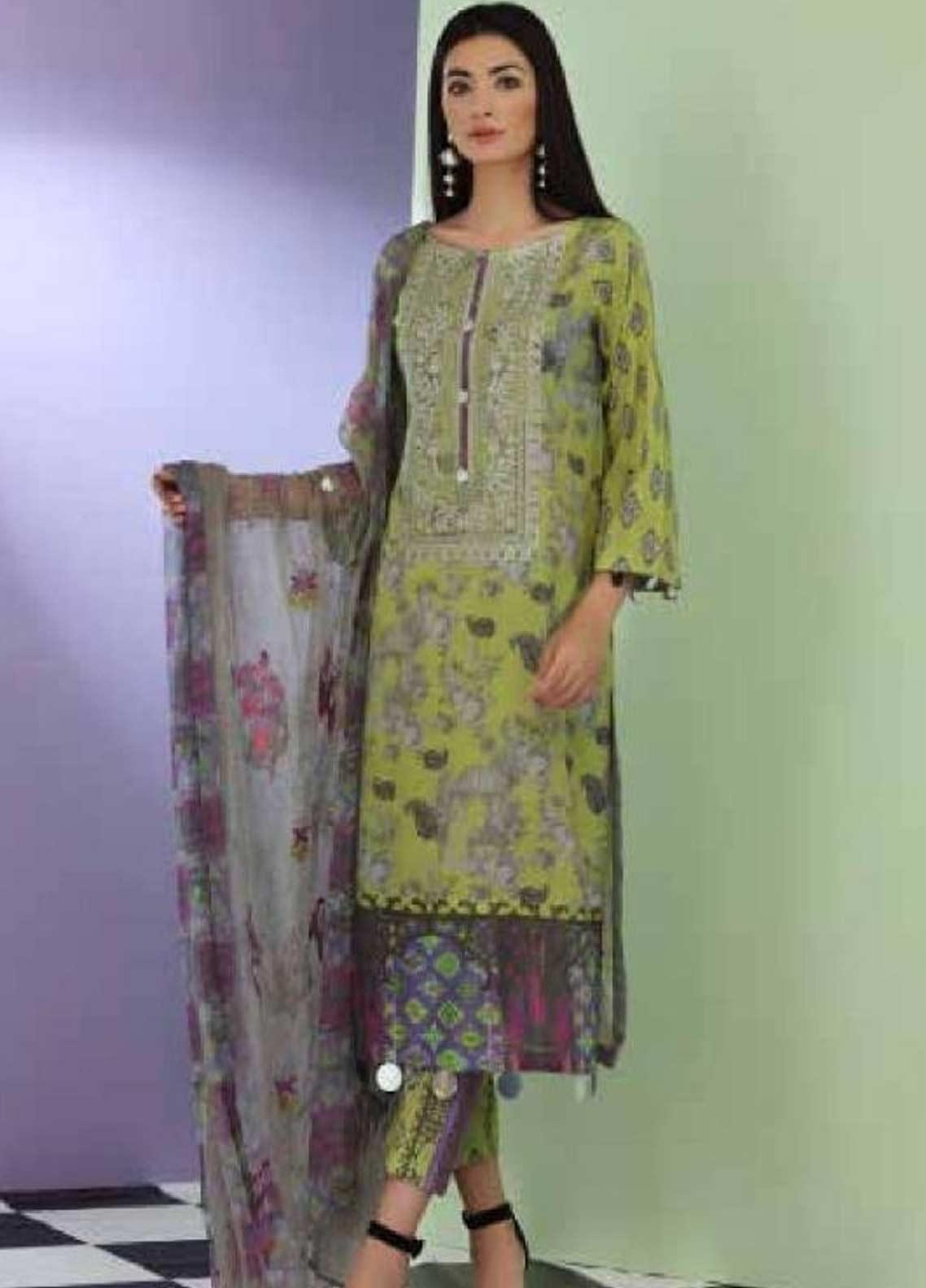 Sheen by Charizma Embroidered Lawn Unstitched 3 Piece Suit SHN19-L3 33 - Mid Summer Collection