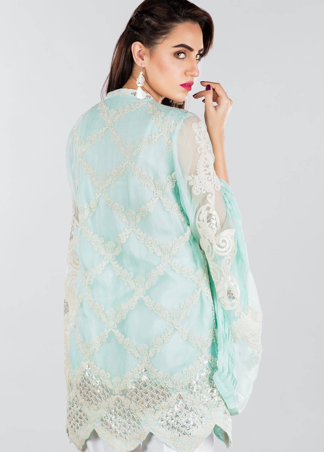 Sheqe Embroidered  Stitched Kurtis SHQ18K C-004 BLUE