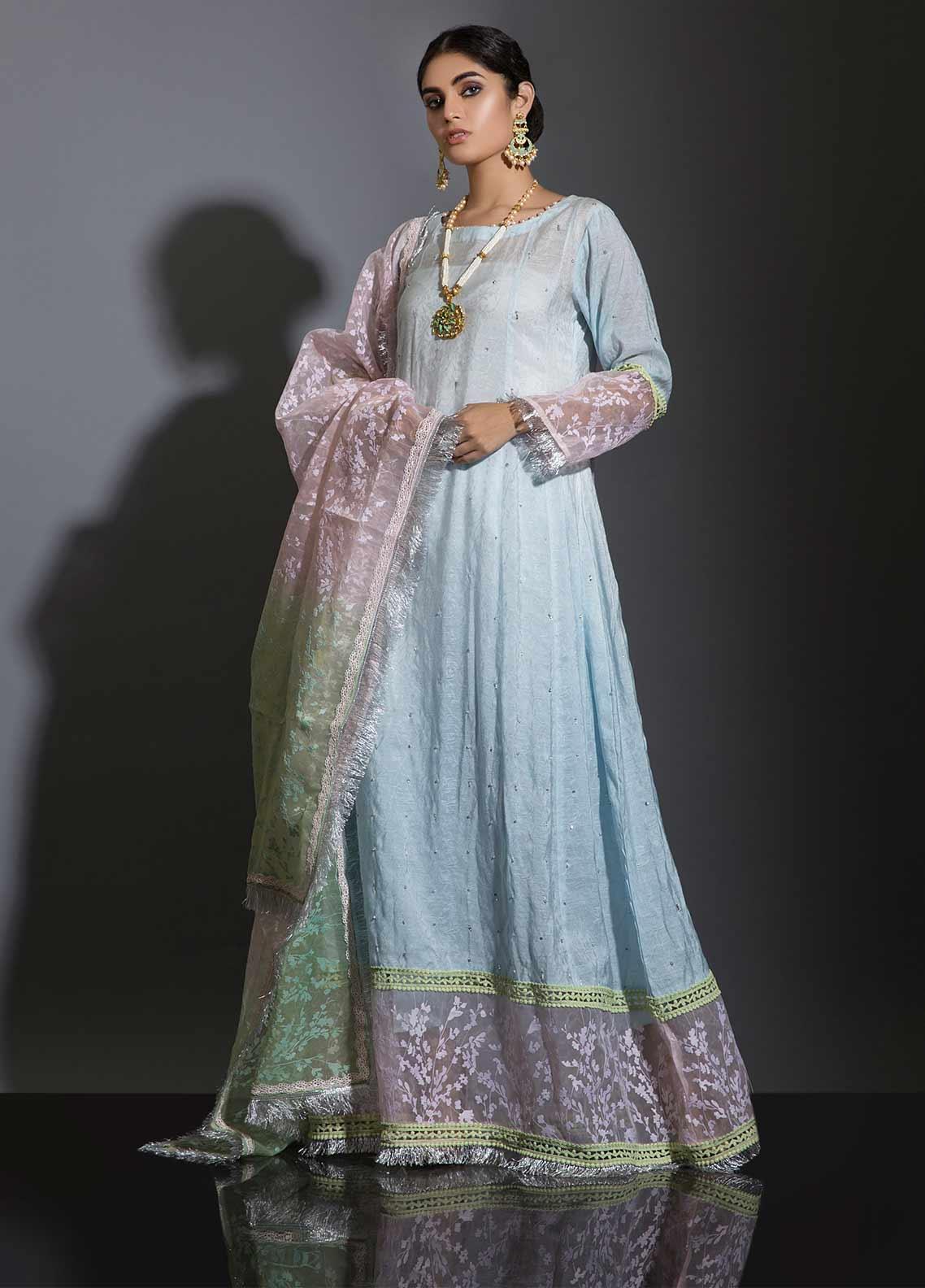 Sidra Mumtaz Embroidered Cotton Stitched 3 Piece Suit AAB-E-GUL
