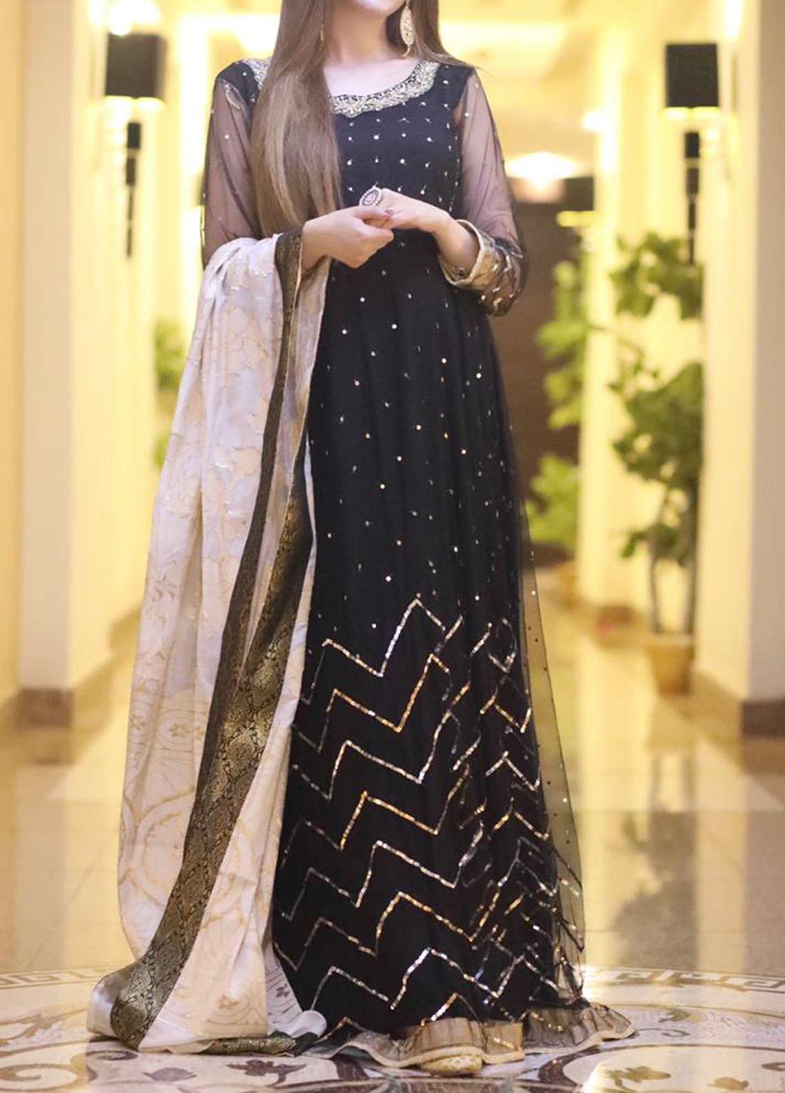 Sidra Mumtaz Embroidered Net Stitched 3 Piece Suit TABBASUM
