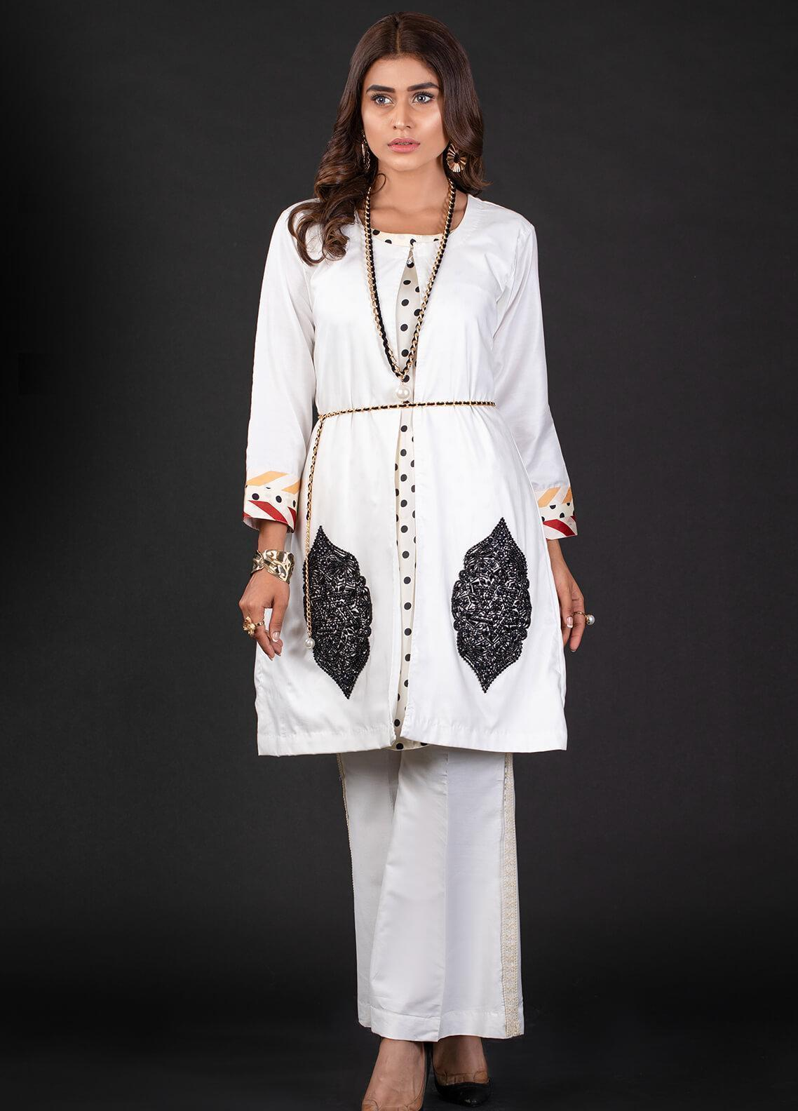 Sidra Mumtaz Embroidered Cotton Silk Stitched 2 Piece Suit 3B OVALE
