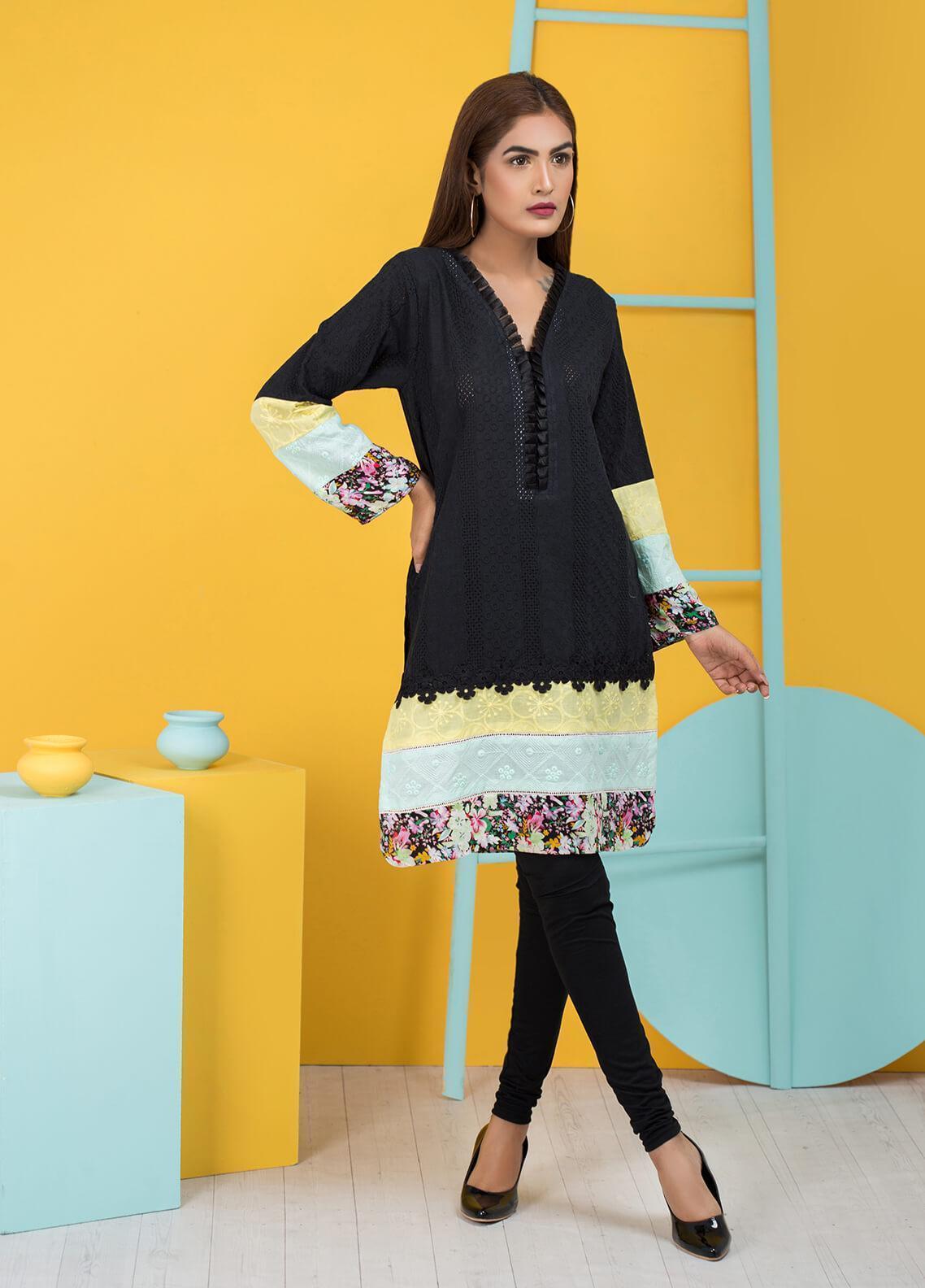 Sidra Mumtaz Embroidered Schiffli Stitched 3 Piece Suit BOOGIE WOOGIE