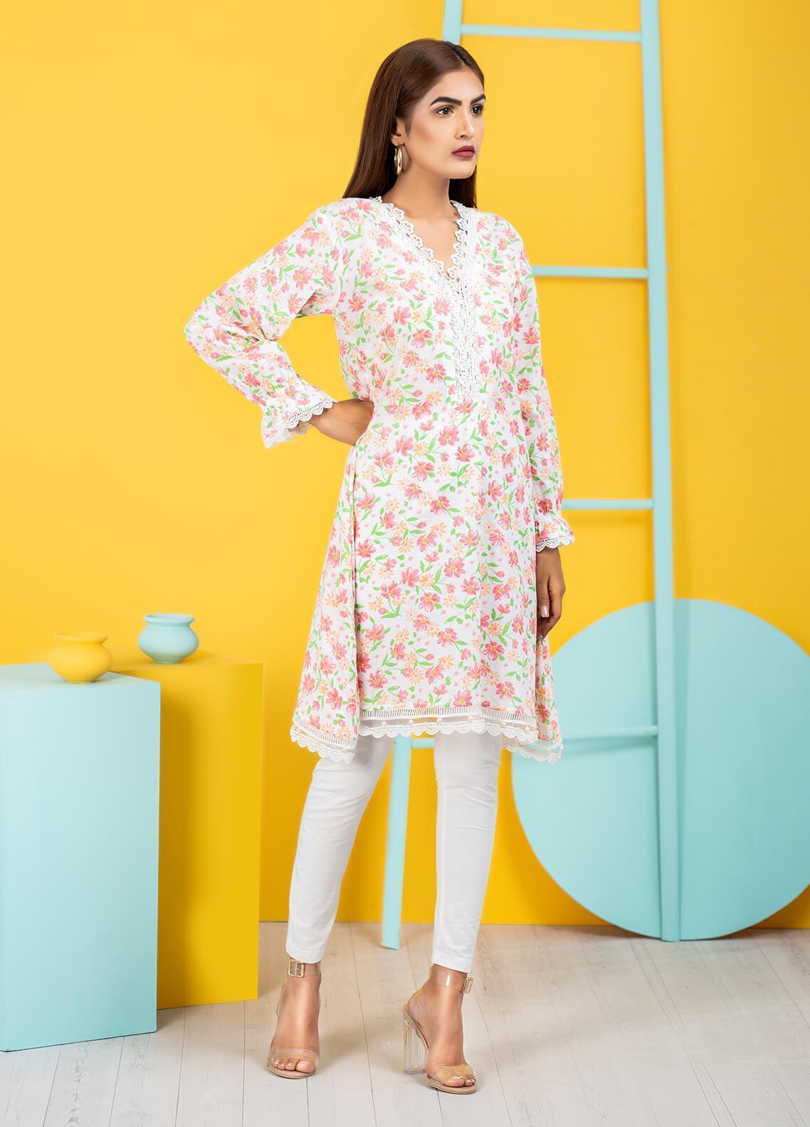 Sidra Mumtaz Embroidered Cotton Silk Stitched 3 Piece Suit MATHILDA