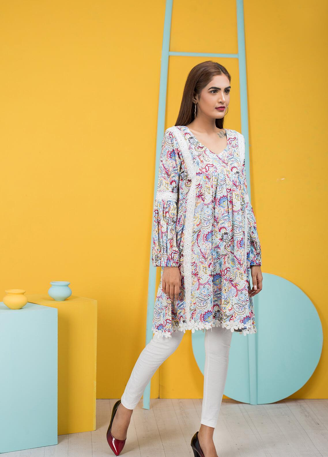 Sidra Mumtaz Embroidered Lawn Stitched 3 Piece Suit SANGIRA