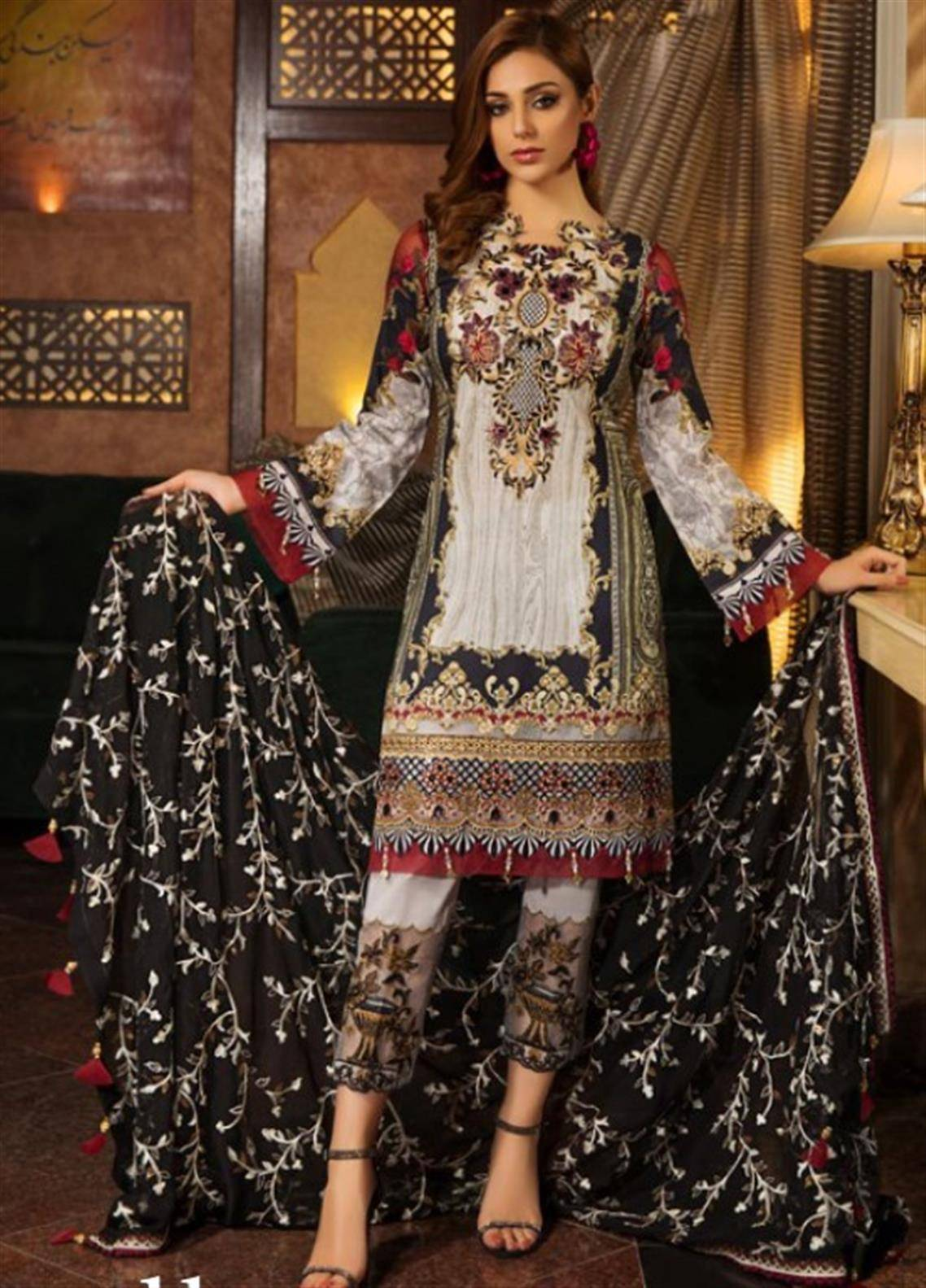 Sifona Embroidered Lawn Unstitched 3 Piece Suit SFM19L 11 Victoriana - Spring / Summer Collection