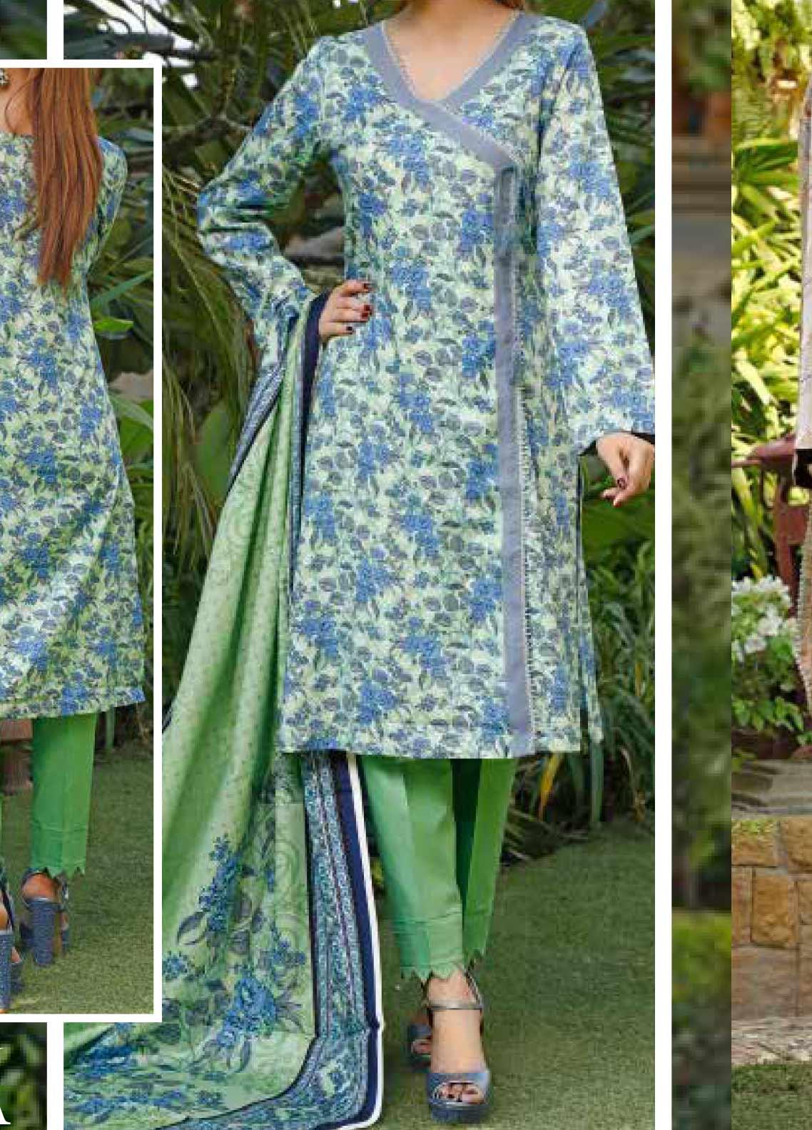 VS Textiles Printed Lawn Unstitched 3 Piece Suit VS20-SL2 9A - Summer Collection